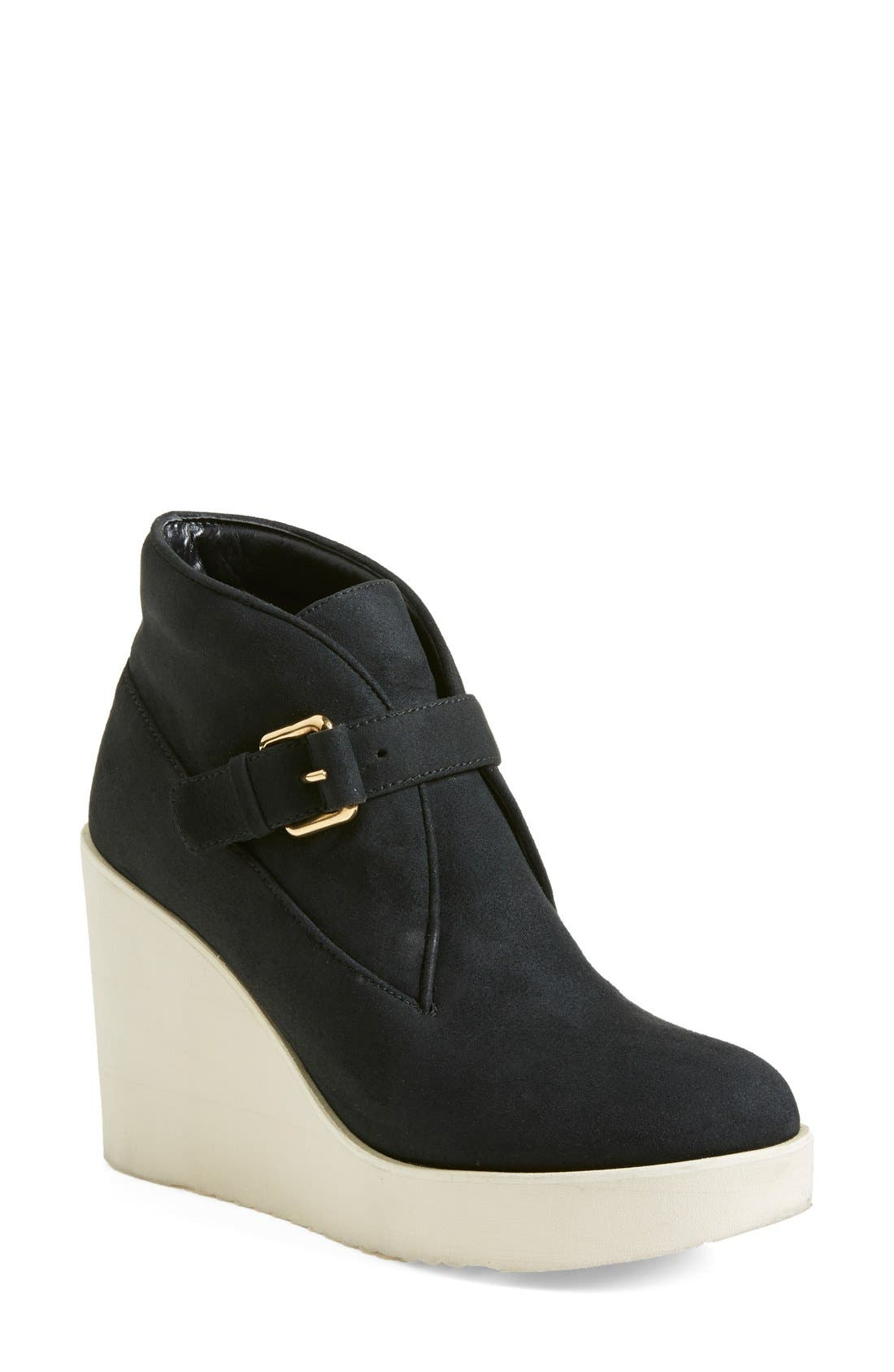 Alternate Image 1 Selected - Stella McCartney Monk Strap Wedge Bootie (Women)