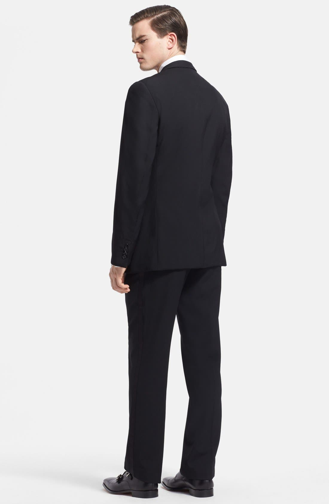 Alternate Image 2  - Ralph Lauren Black Label Wool Tuxedo
