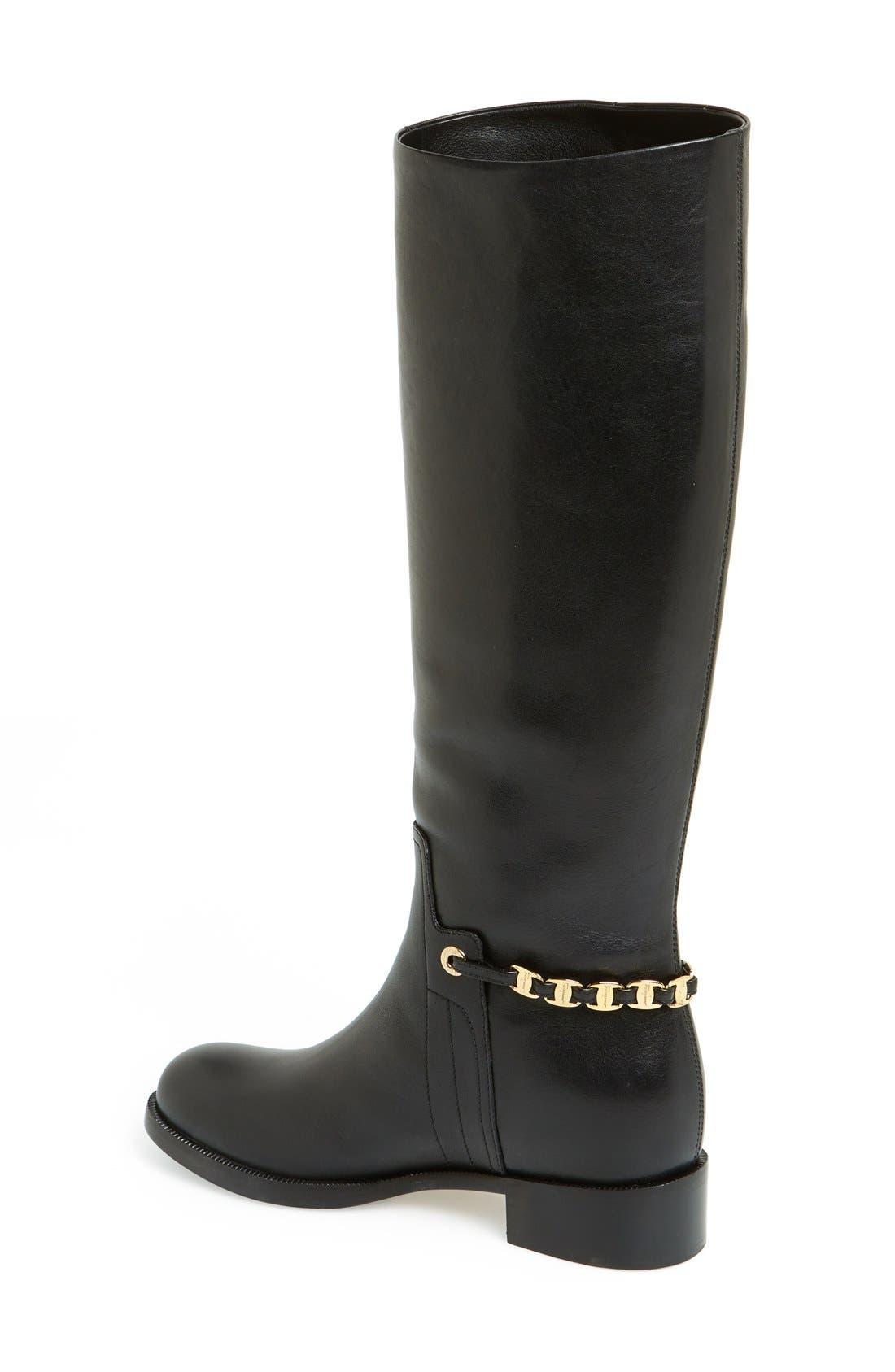 Alternate Image 2  - Salvatore Ferragamo 'Nando' Chain Trim Leather Boot (Women)
