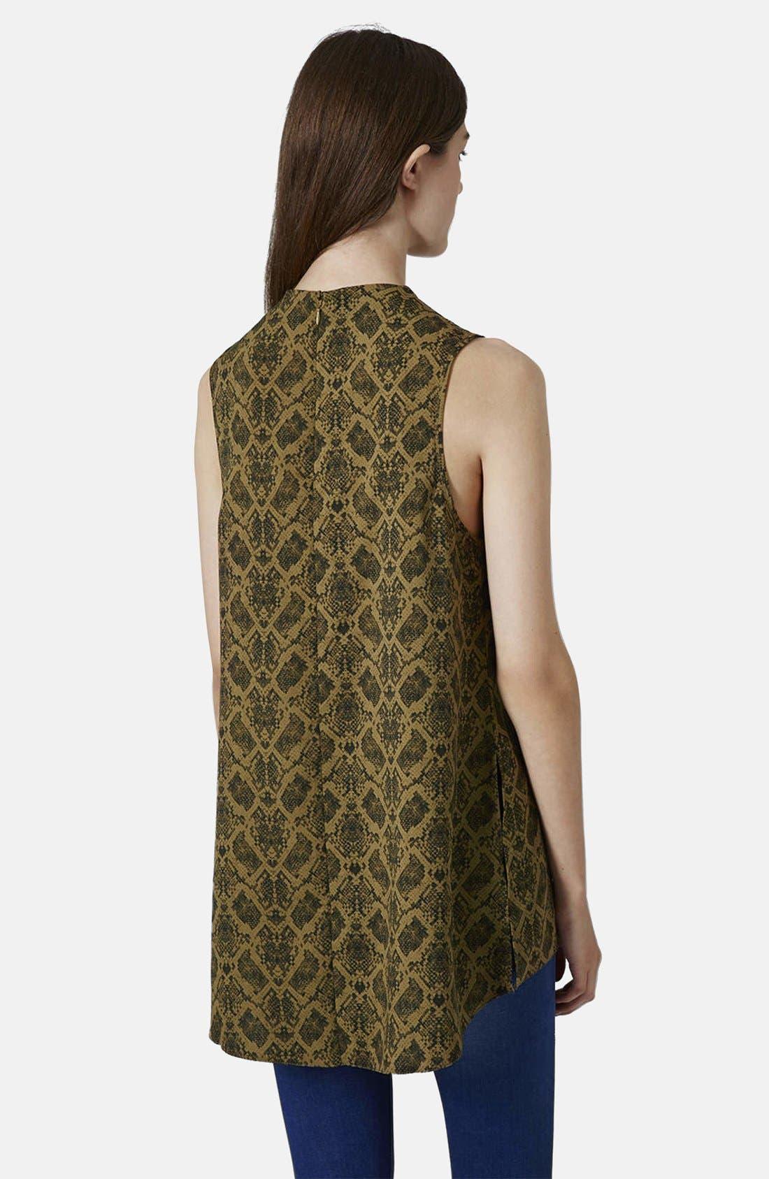 Alternate Image 2  - Topshop Snake Print Tunic
