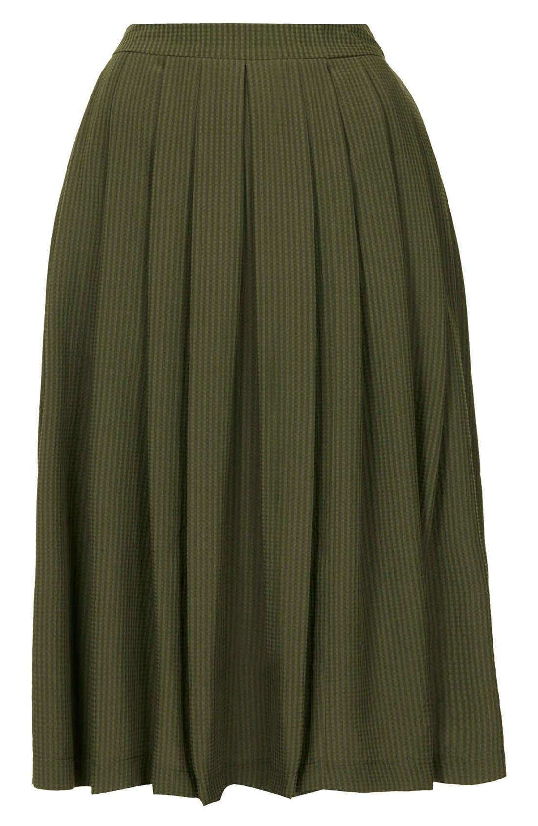 Alternate Image 3  - Topshop Seersucker Midi Skirt