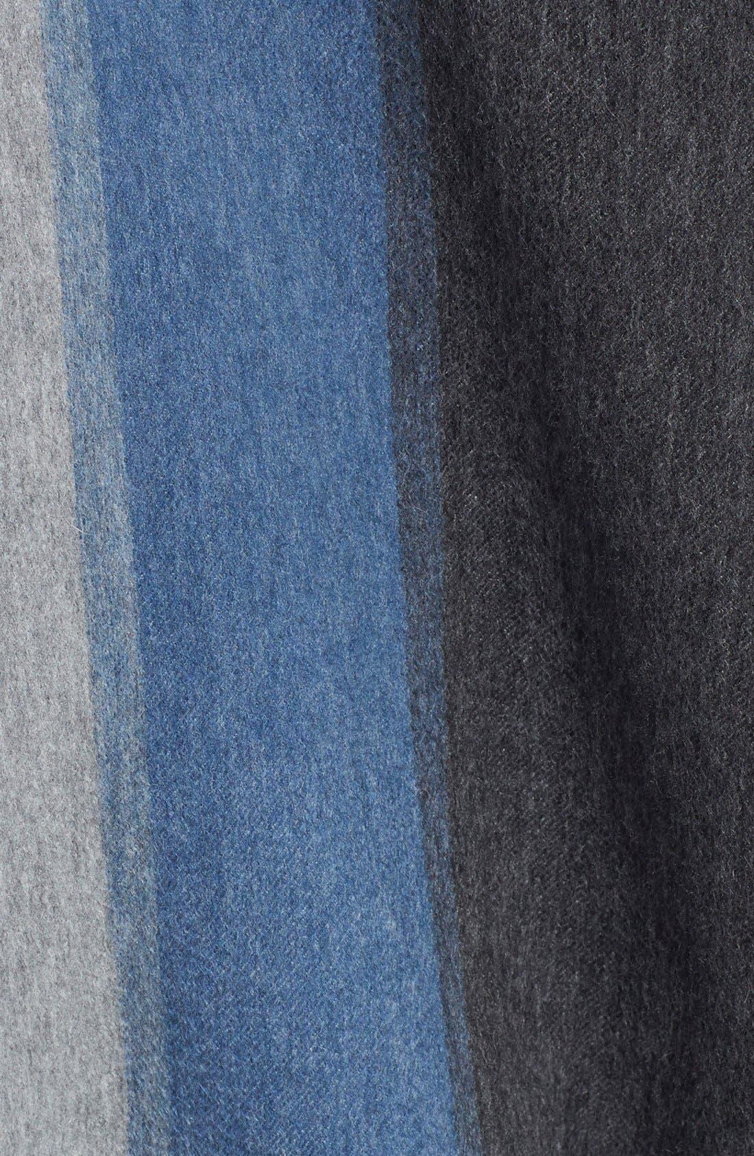 Alternate Image 3  - Nordstrom Collection Colorblock Cashmere Wrap