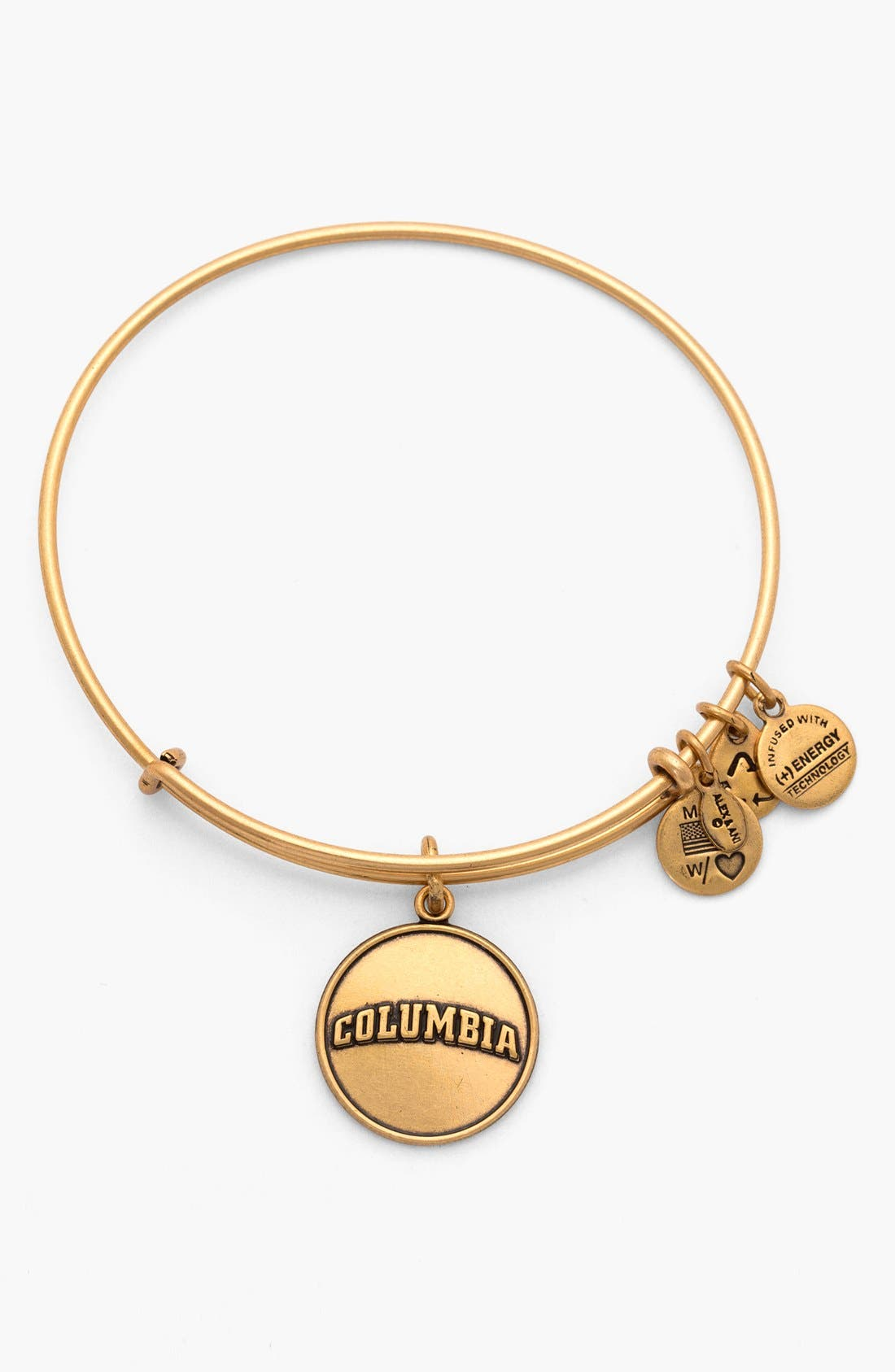 Alternate Image 1 Selected - Alex and Ani 'Collegiate - Columbia University' Expandable Charm Bangle