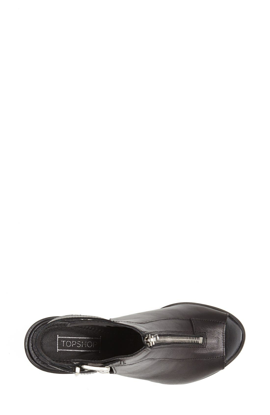 Alternate Image 3  - Topshop 'Jada' Zip Front Sandal (Women)