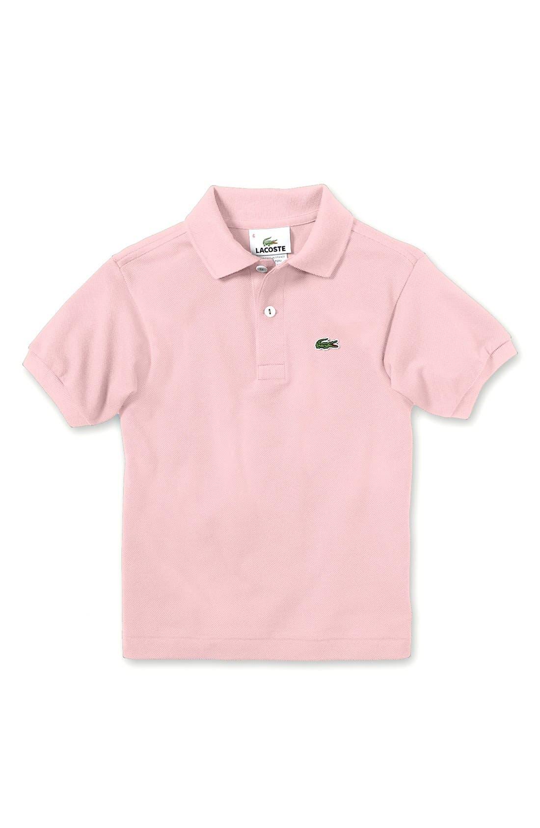 Alternate Image 1 Selected - Lacoste Short Sleeve Polo (Baby Boys)