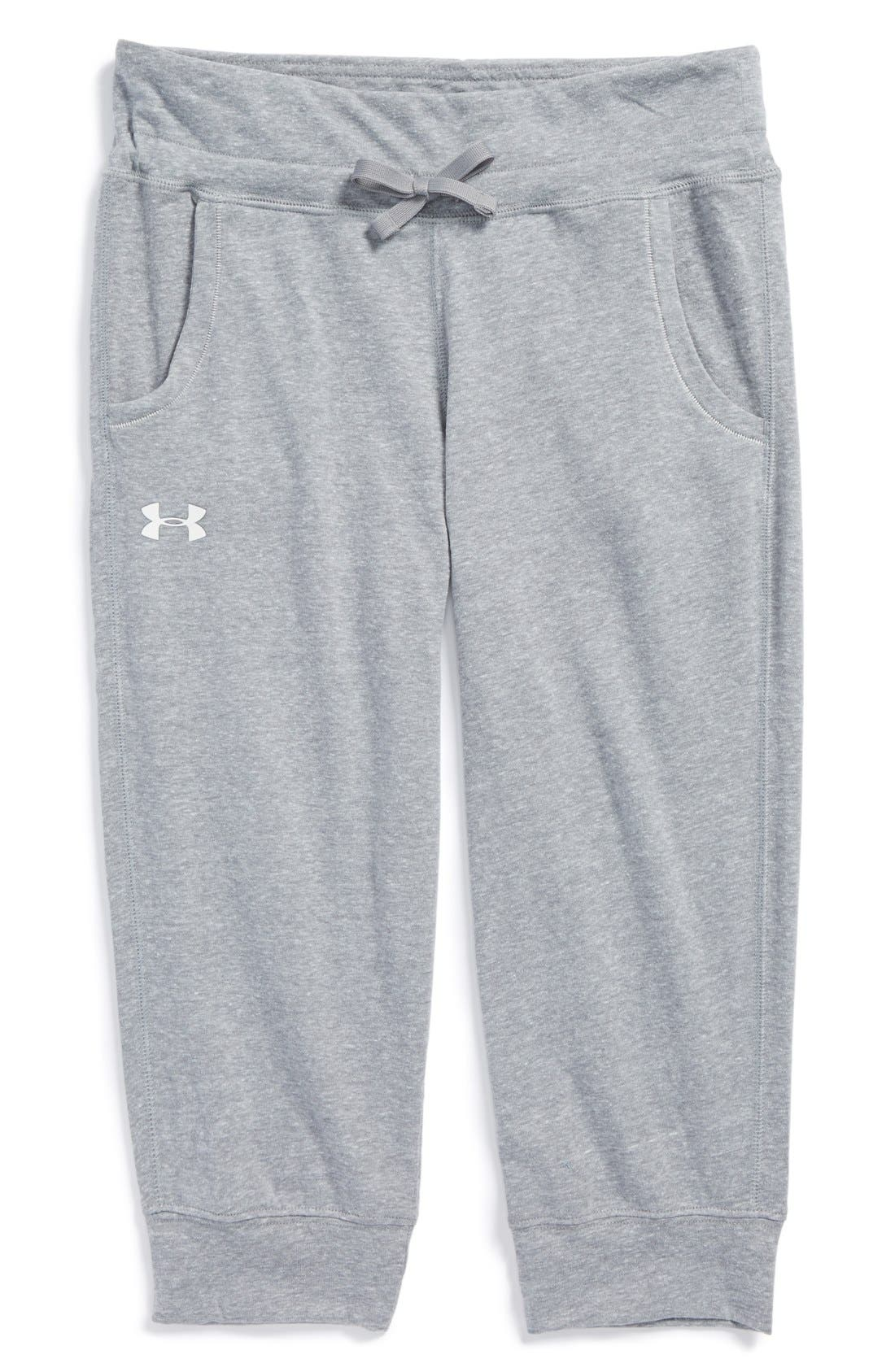 Alternate Image 1 Selected - Under Armour Capri Sweatpants (Big Girls)