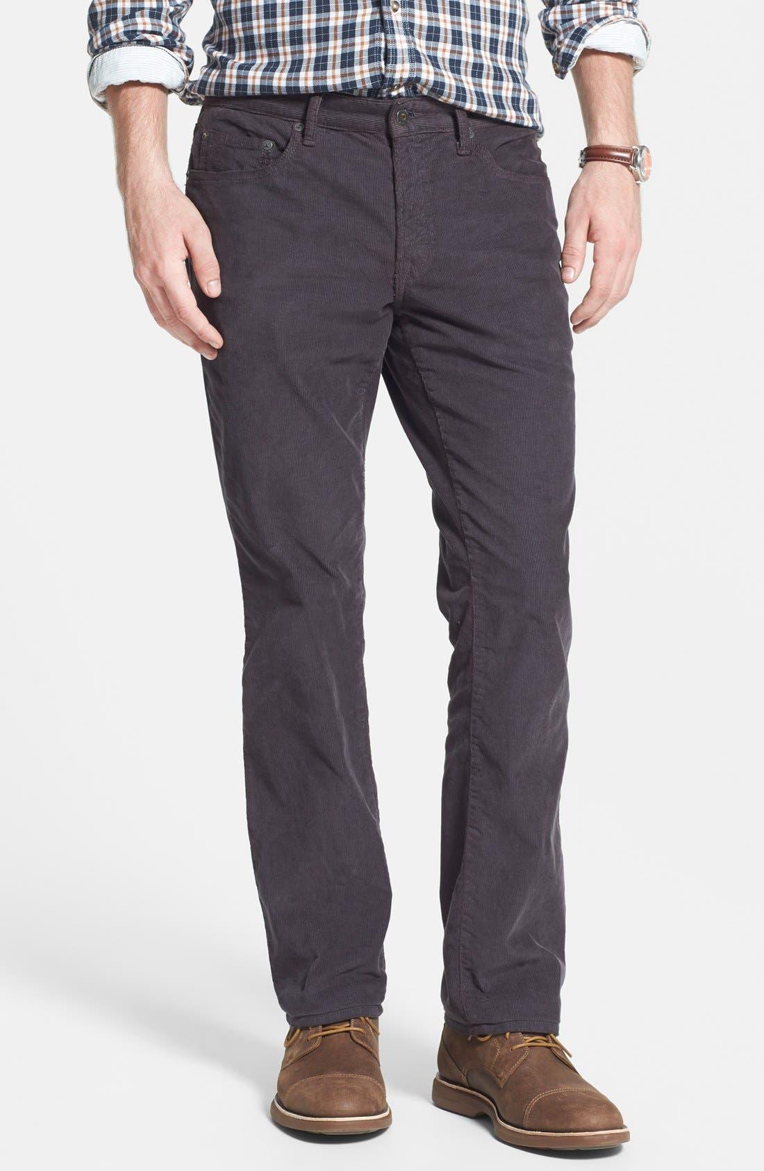 Alternate Image 1 Selected - Bonobos Straight Leg Five-Pocket Corduroy Pants