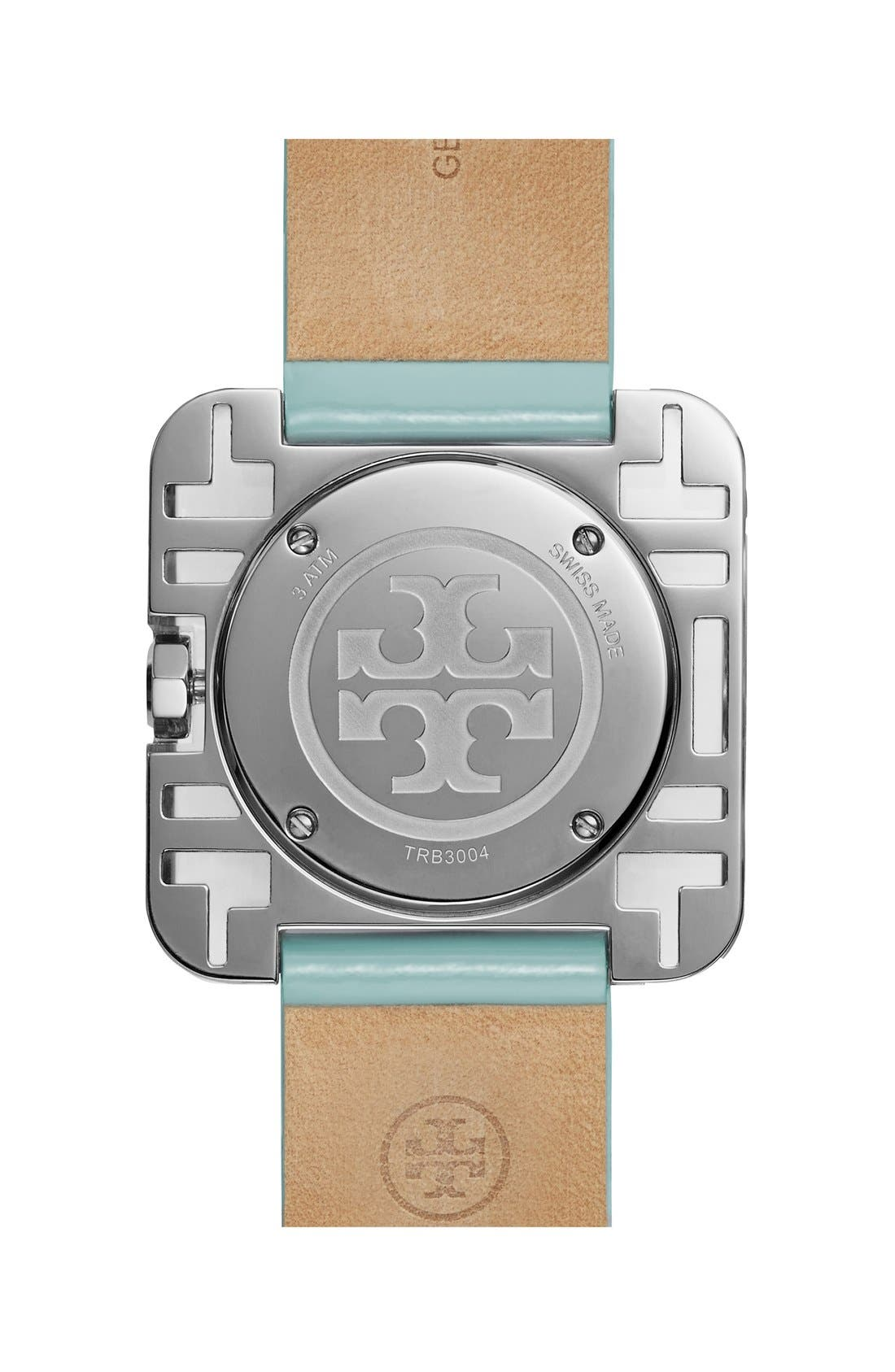 Alternate Image 2  - Tory Burch 'Izzie' Square Leather Strap Watch, 36mm