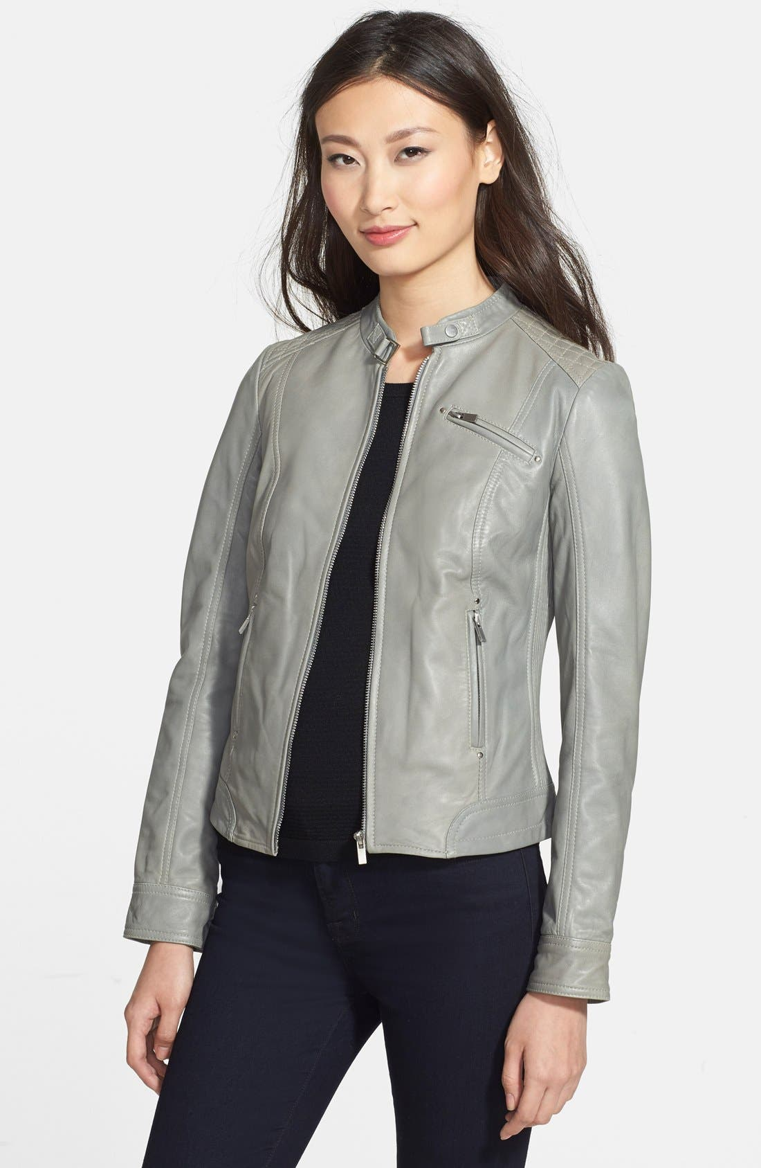 Alternate Image 1 Selected - LaMarque Quilted Leather Jacket