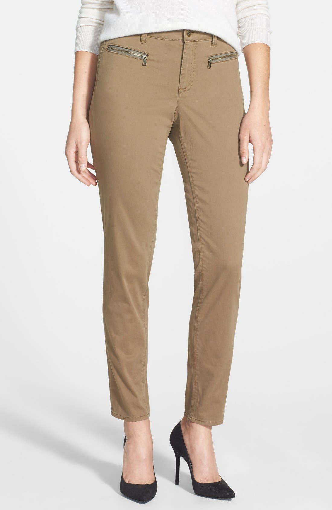 Main Image - Two by Vince Camuto Washed Sateen Slim Pants