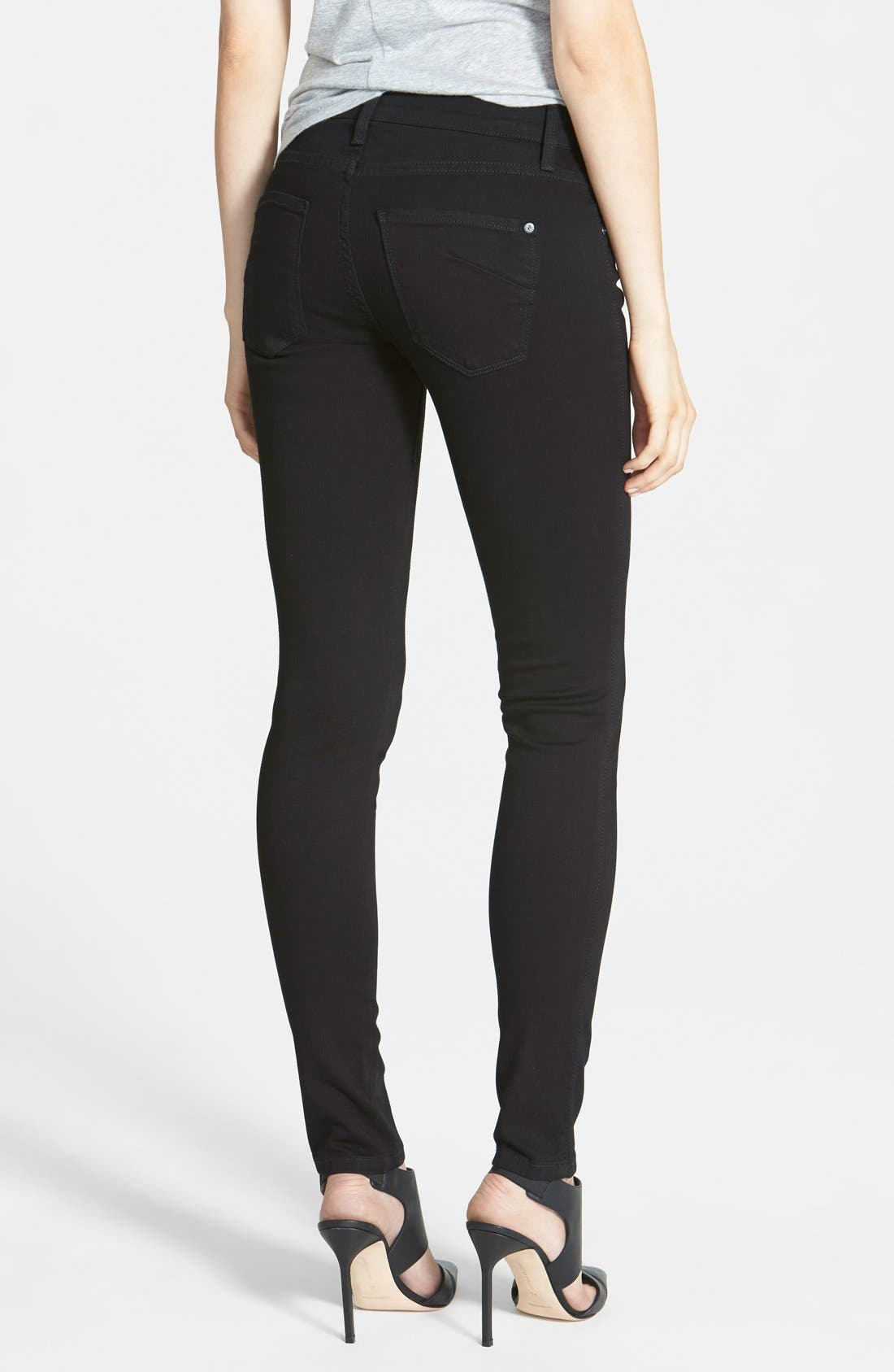 Alternate Image 2  - James Jeans 'Twiggy' Five Pocket Leggings (Black Clean)