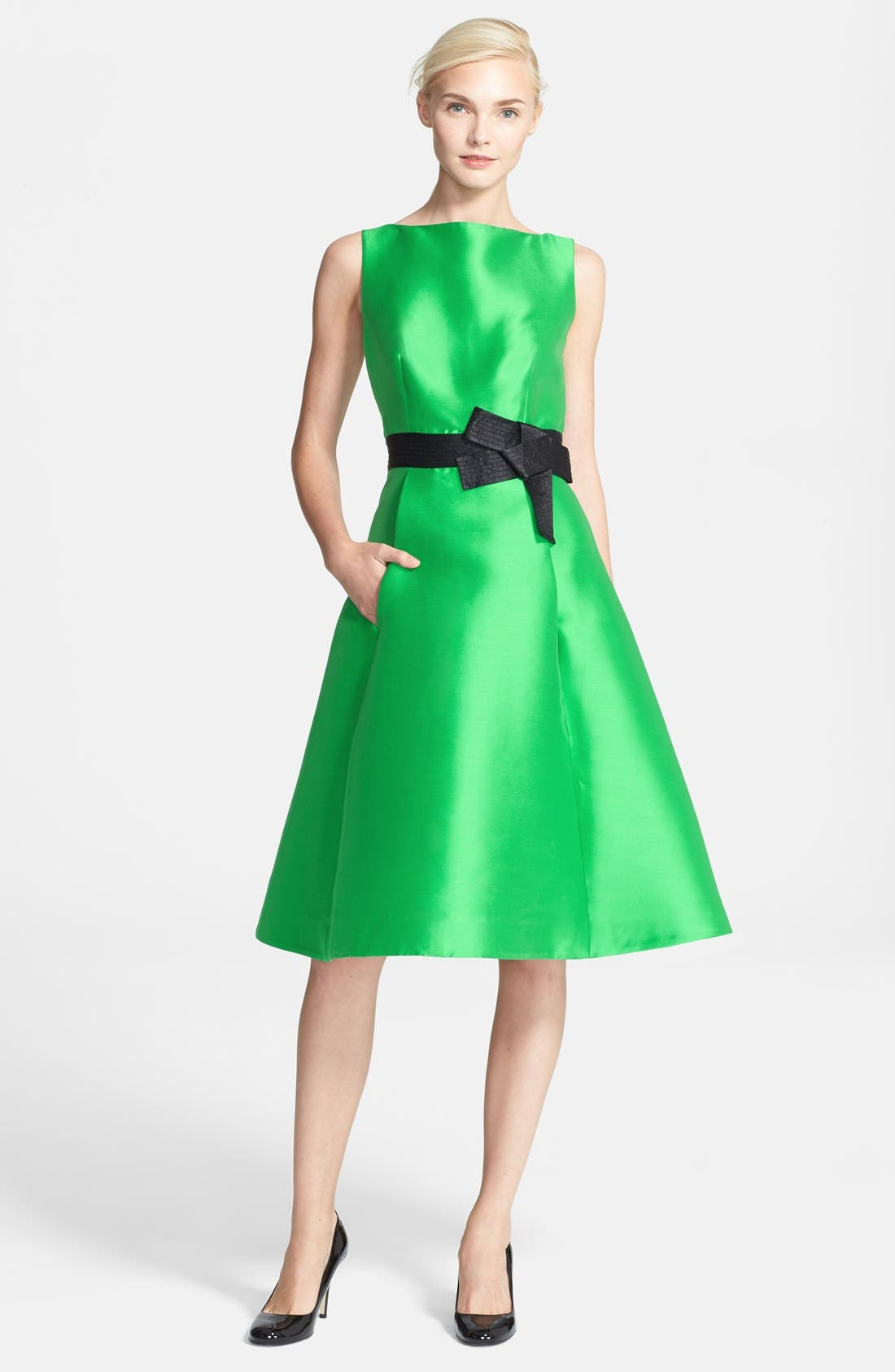 Main Image - kate spade new york 'origami' fit & flare dress