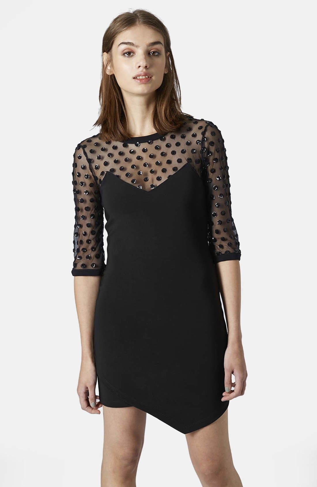 Main Image - Topshop Mesh Body-Con Dress