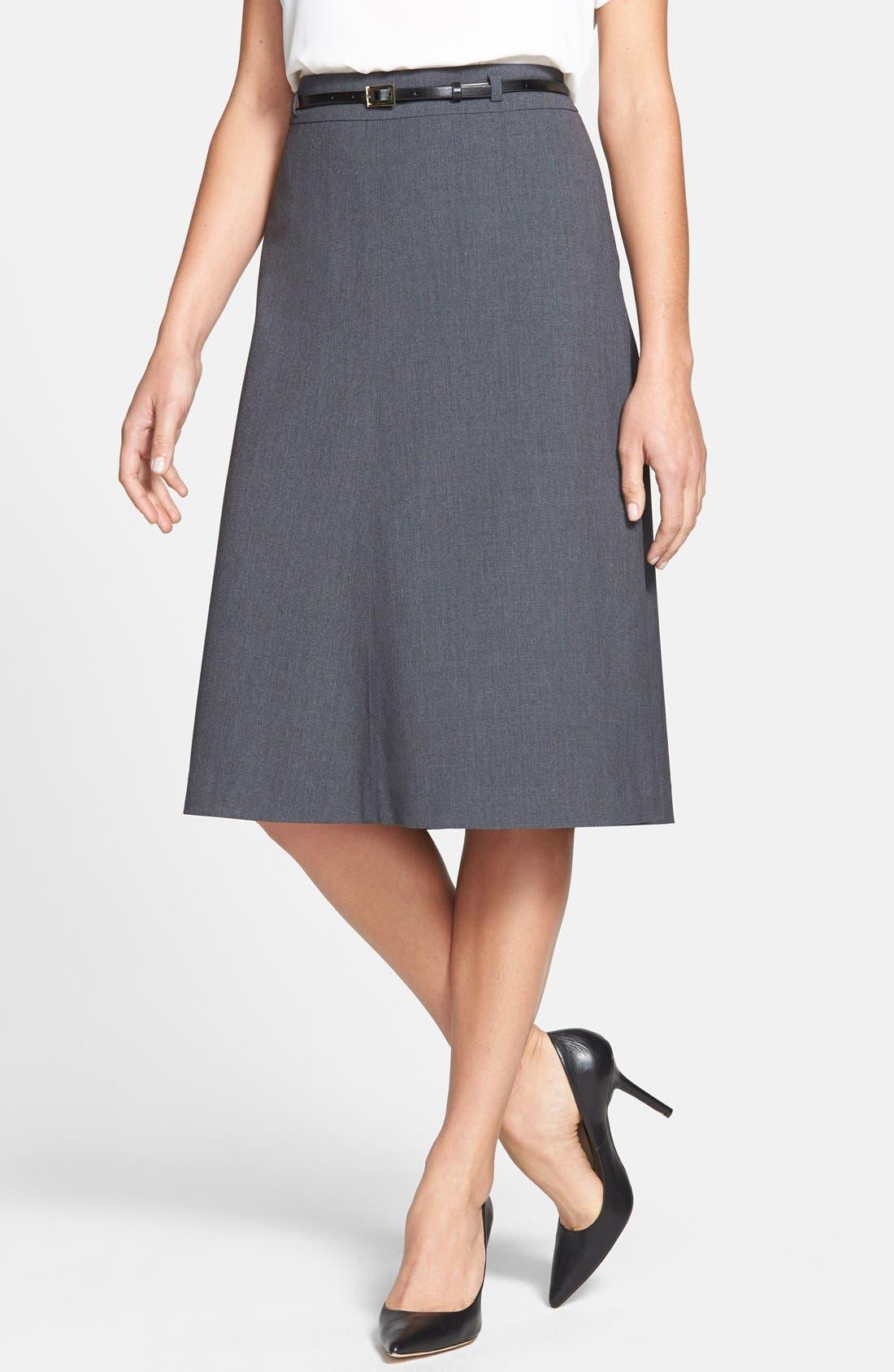 Alternate Image 1 Selected - Jones New York 'Isabel' Belted Boot Skirt