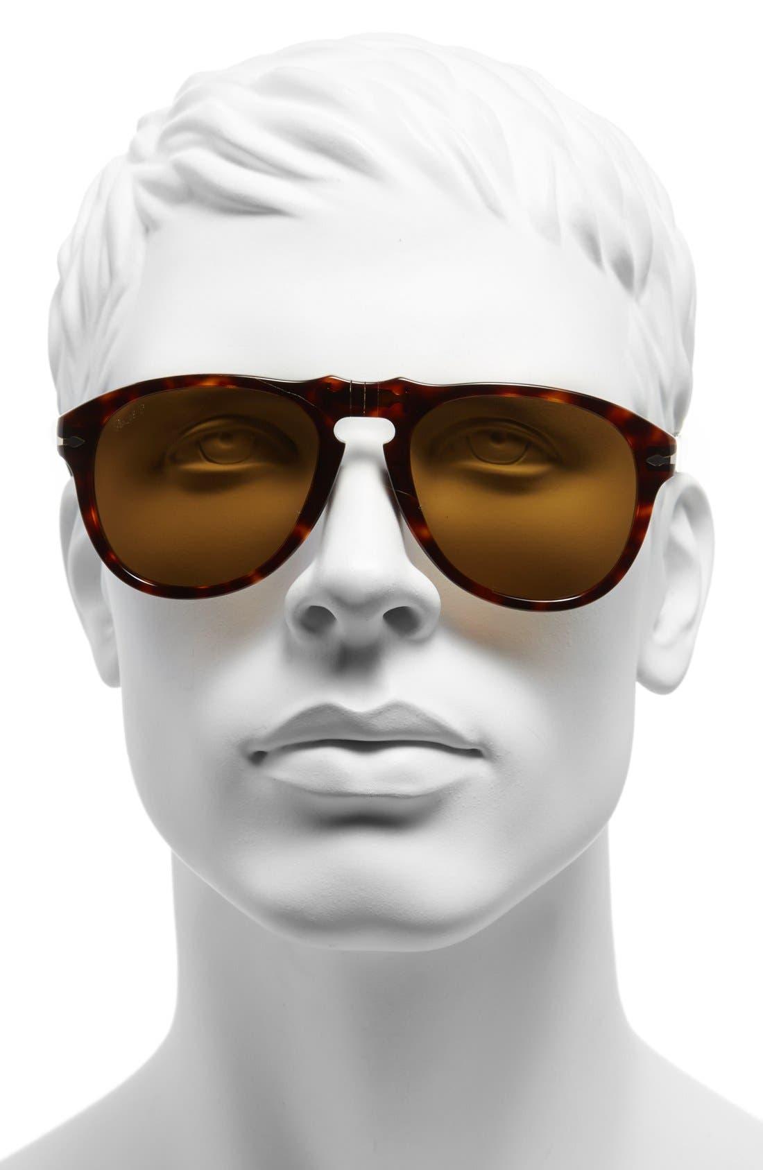 Alternate Image 2  - Persol 54mm Polarized Keyhole Retro Sunglasses