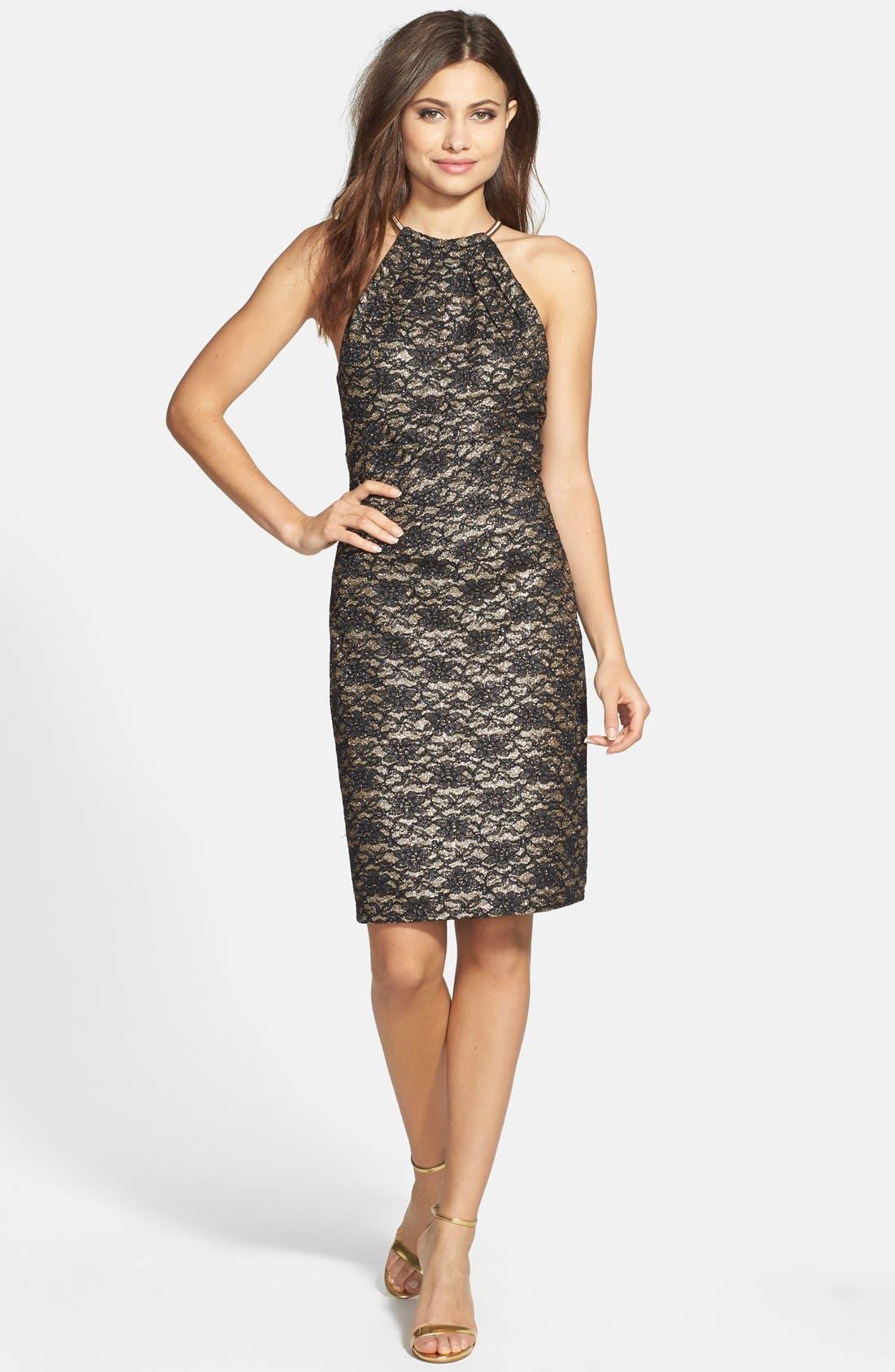 Alternate Image 3  - Eliza J Lace Halter Sheath Dress