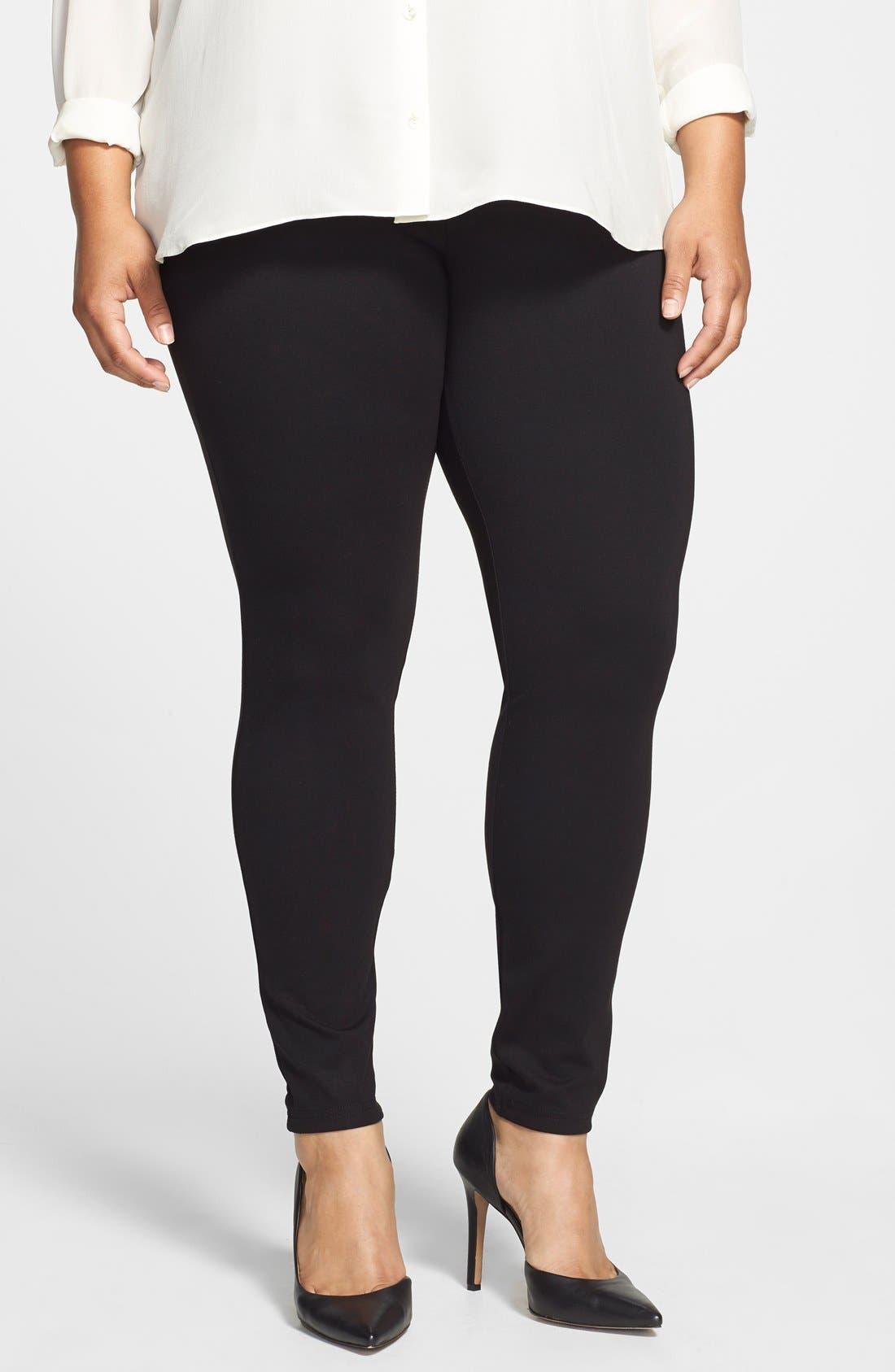 Main Image - Hue Ponte Knit Leggings (Plus Size)