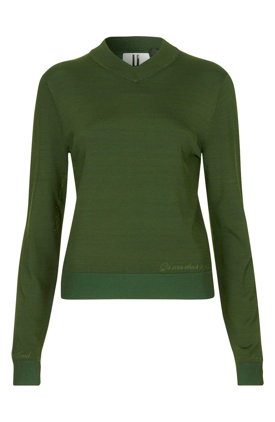 Alternate Image 3  - Topshop Unique Long Sleeve V-Neck Sweater