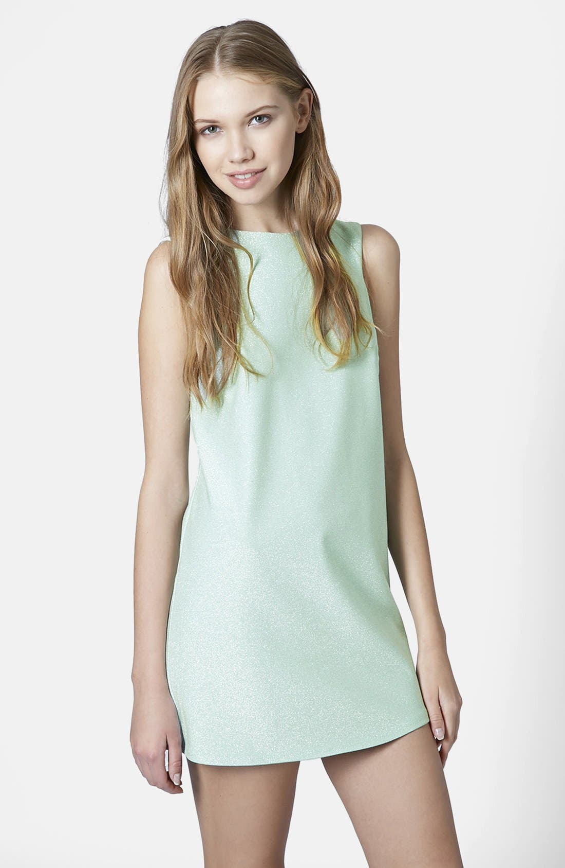 Alternate Image 1 Selected - Topshop Cutaway Shift Dress