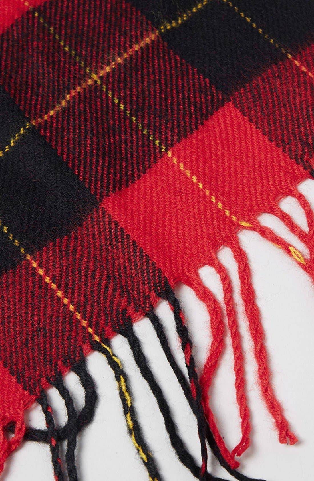 Alternate Image 2  - Topman Tartan Check Knit Scarf