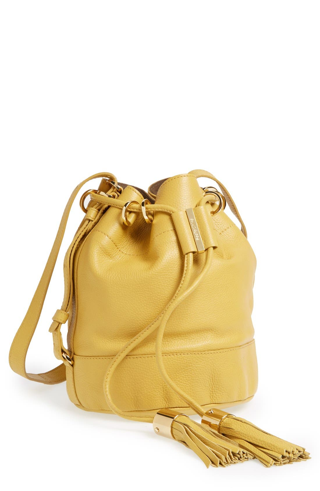 Alternate Image 1 Selected - See by Chloé 'Small Vicki' Leather Bucket Bag