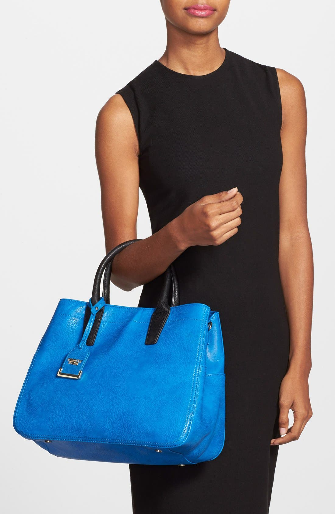 Alternate Image 2  - POVERTY FLATS by rian Faux Leather Convertible Tote