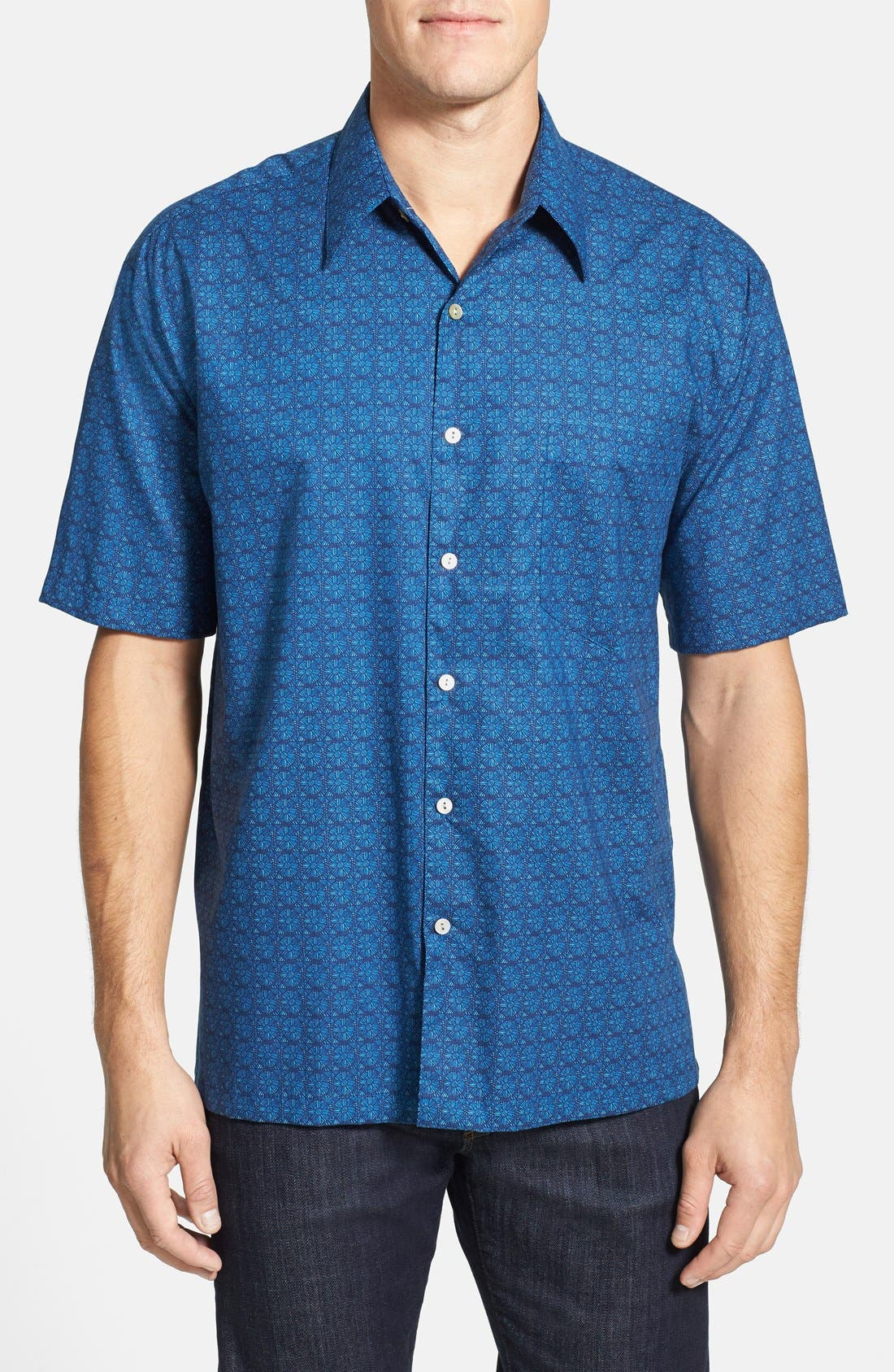Alternate Image 1 Selected - Tori Richard 'Eyeris' Regular Fit Short Sleeve Cotton Lawn Sport Shirt