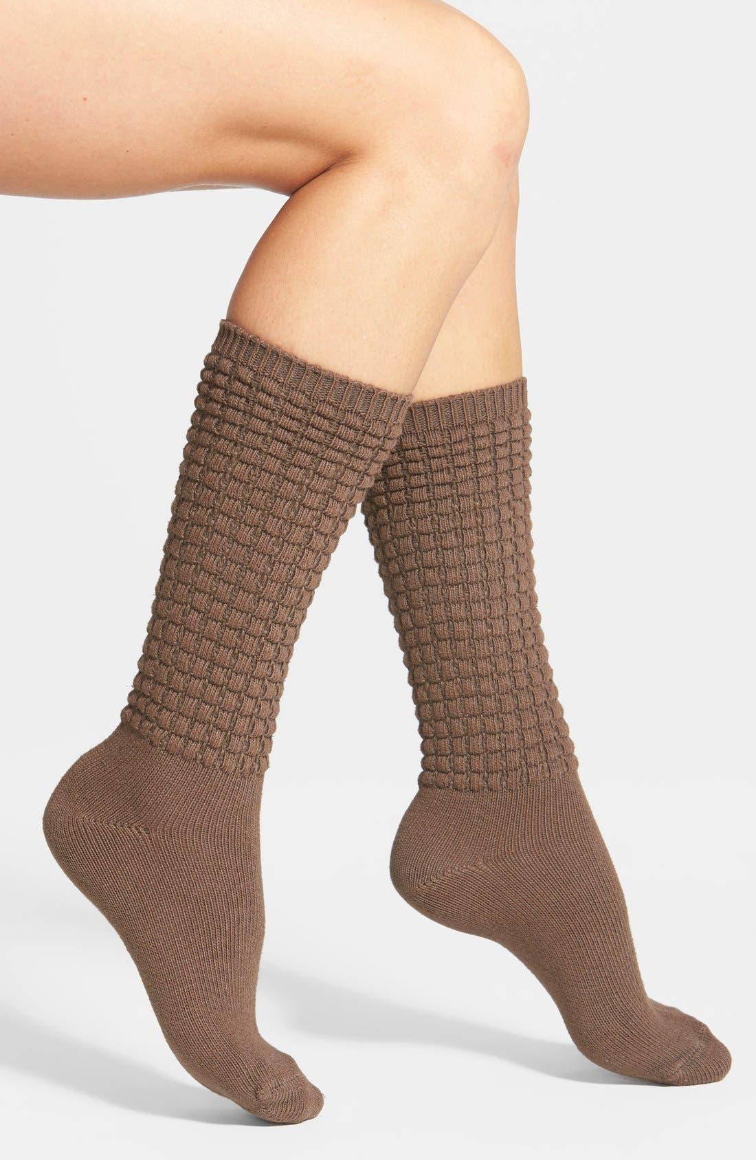 Alternate Image 1 Selected - Hue Textured Knit Socks