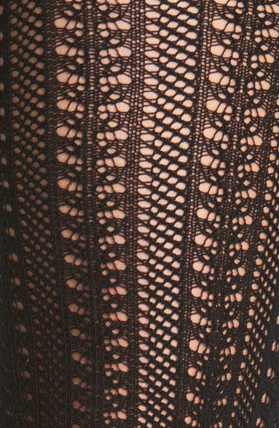 Alternate Image 2  - Free People Pointelle Knit Knee Socks
