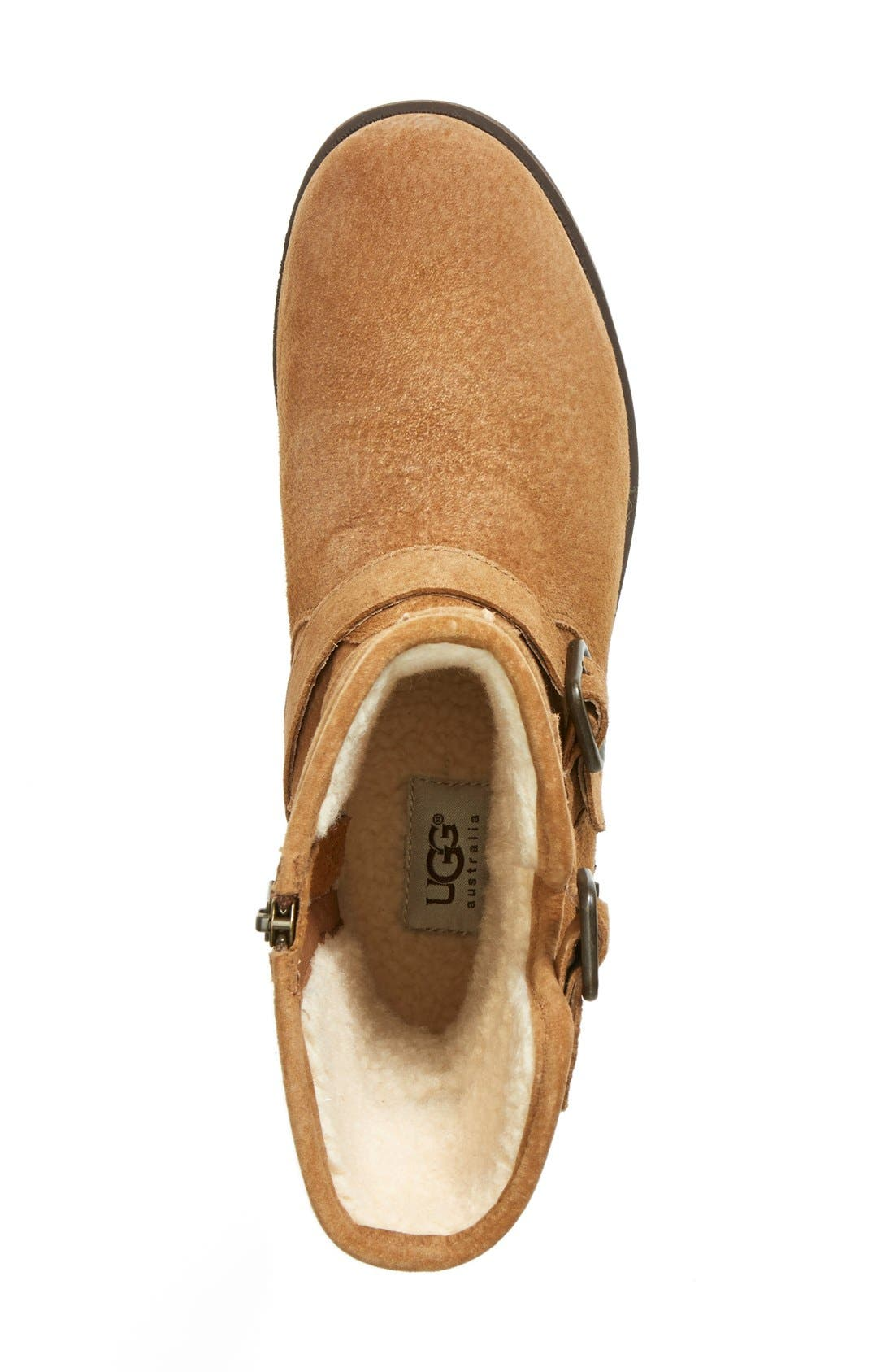 Alternate Image 4  - UGG® 'Chaney' Water Resistant Suede Moto Boot (Women)