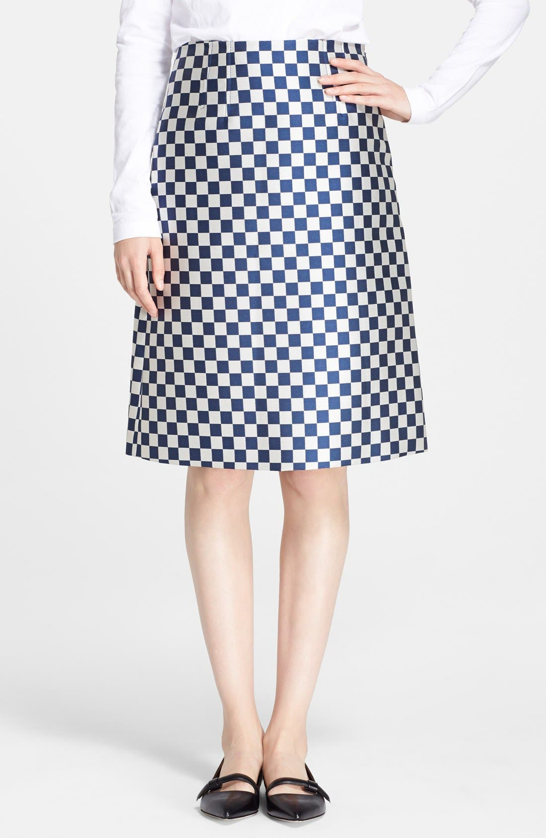 Alternate Image 1 Selected - MARC BY MARC JACOBS Check A-Line Skirt