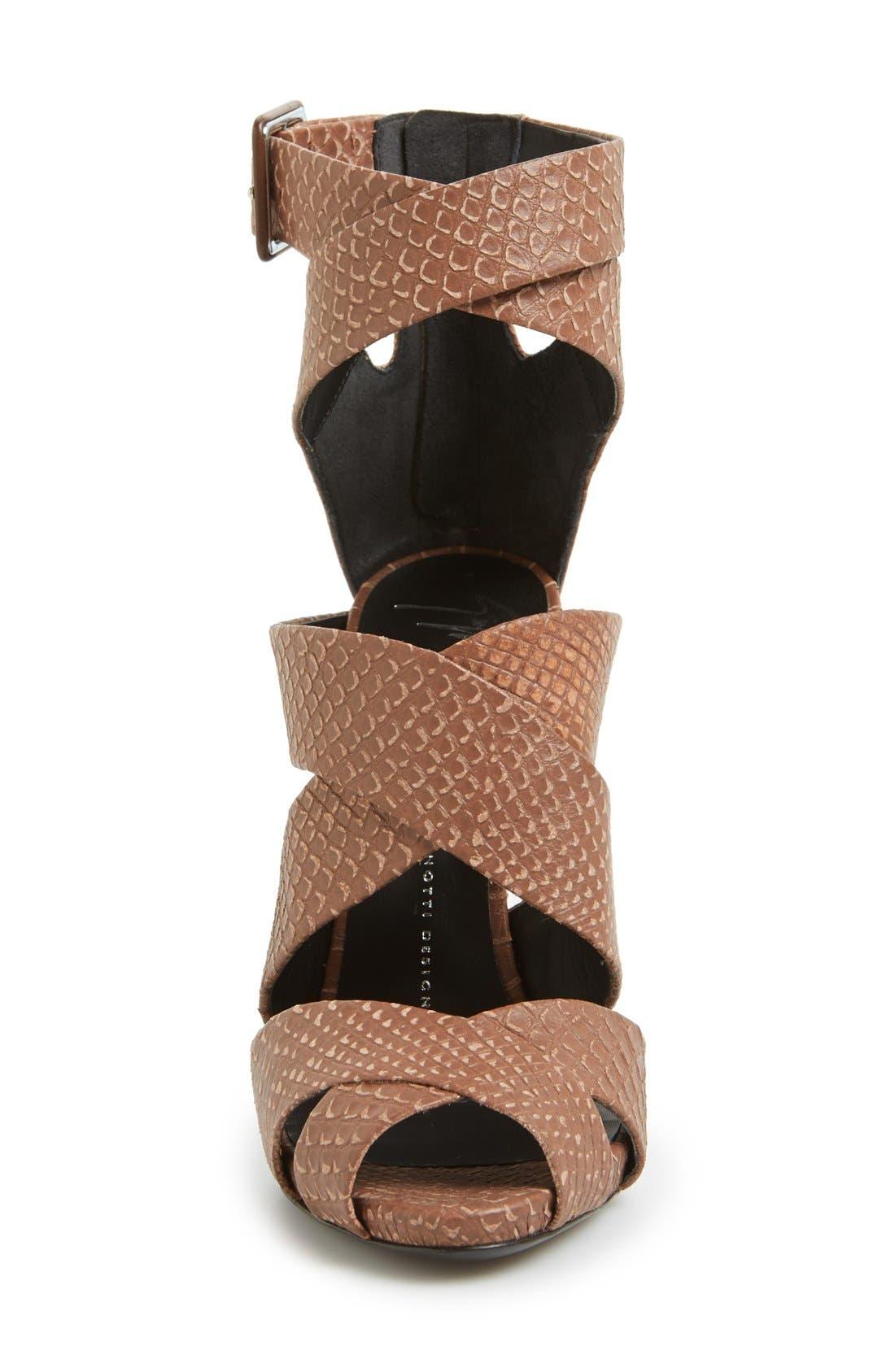 Alternate Image 3  - Giuseppe Zanotti 'Coline' Snake Embossed Leather Sandal (Women)