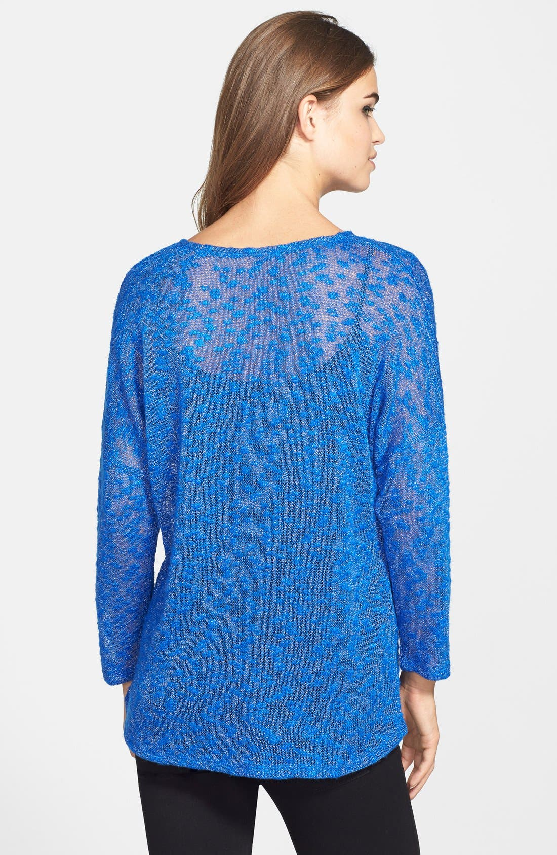 Alternate Image 2  - Two by Vince Camuto Silver Shimmer Mélange Pullover
