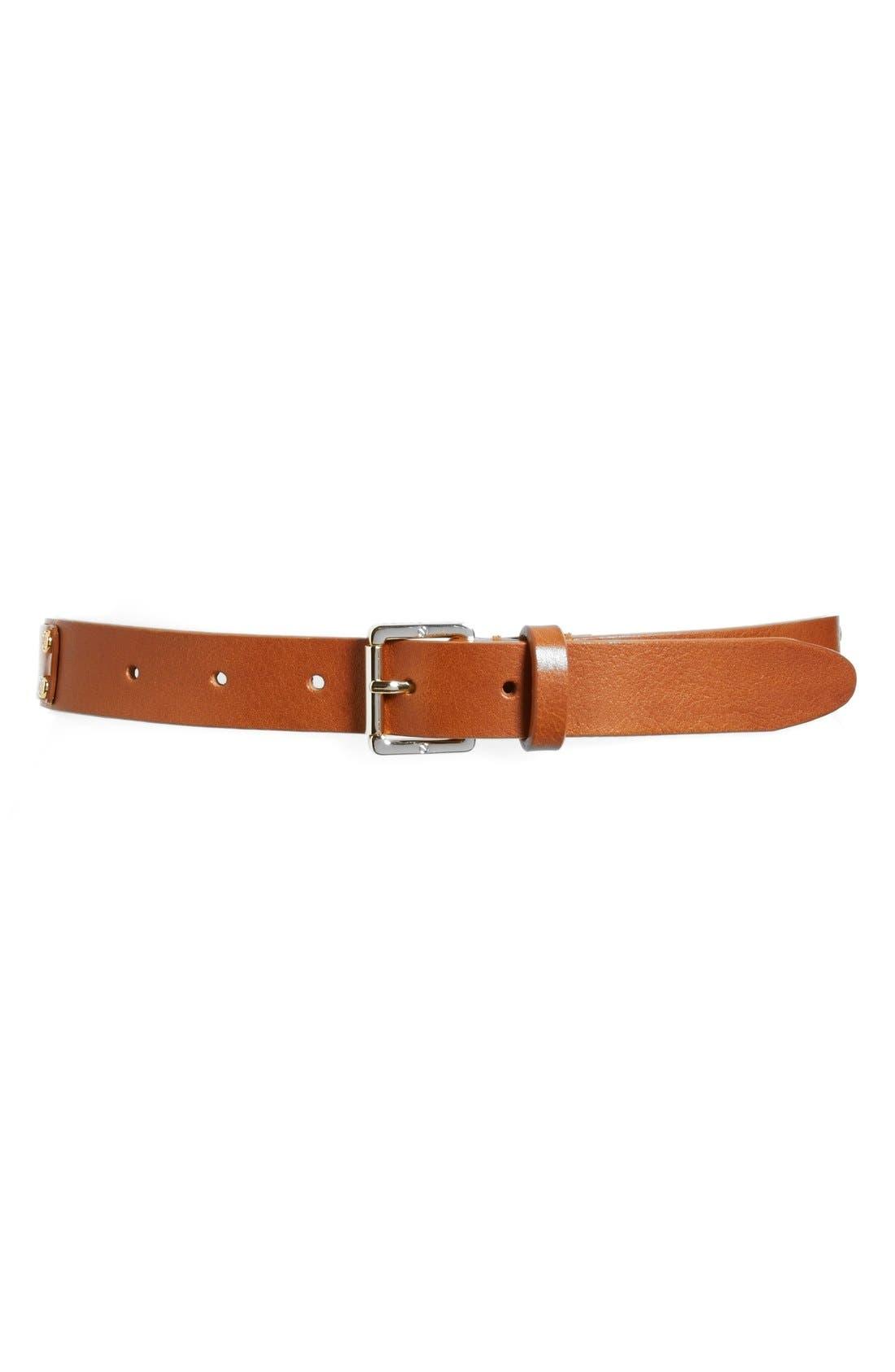 Alternate Image 1 Selected - Tory Burch Leather Rivet Belt