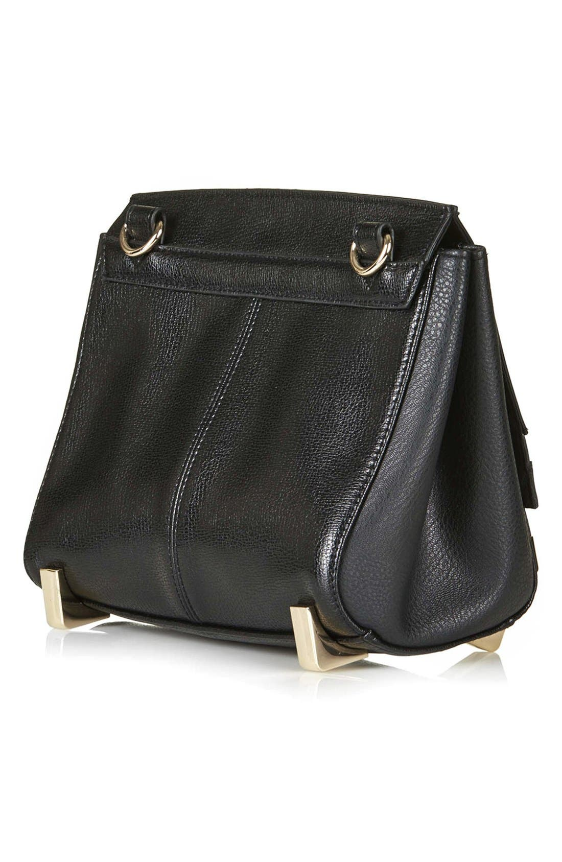 Alternate Image 4  - Topshop Faux Leather Crossbody Bag