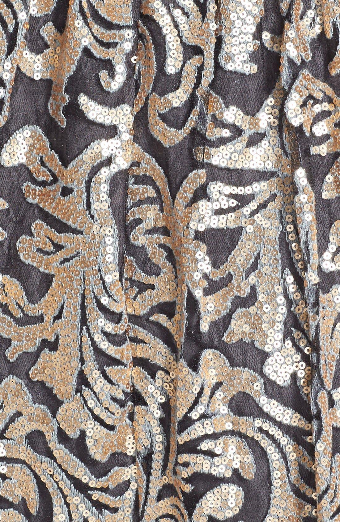 Alternate Image 4  - Donna Morgan Sequin Fit & Flare Midi Dress