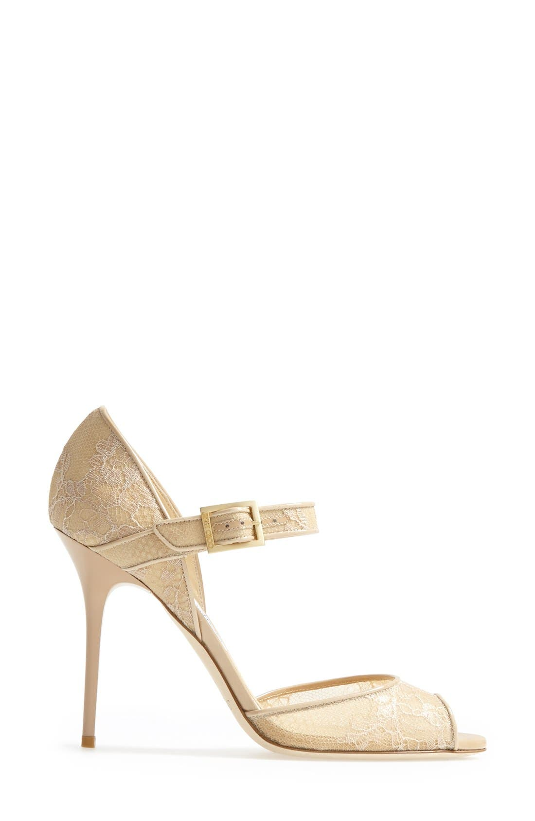 Alternate Image 4  - Jimmy Choo 'Lace' Pump (Women)