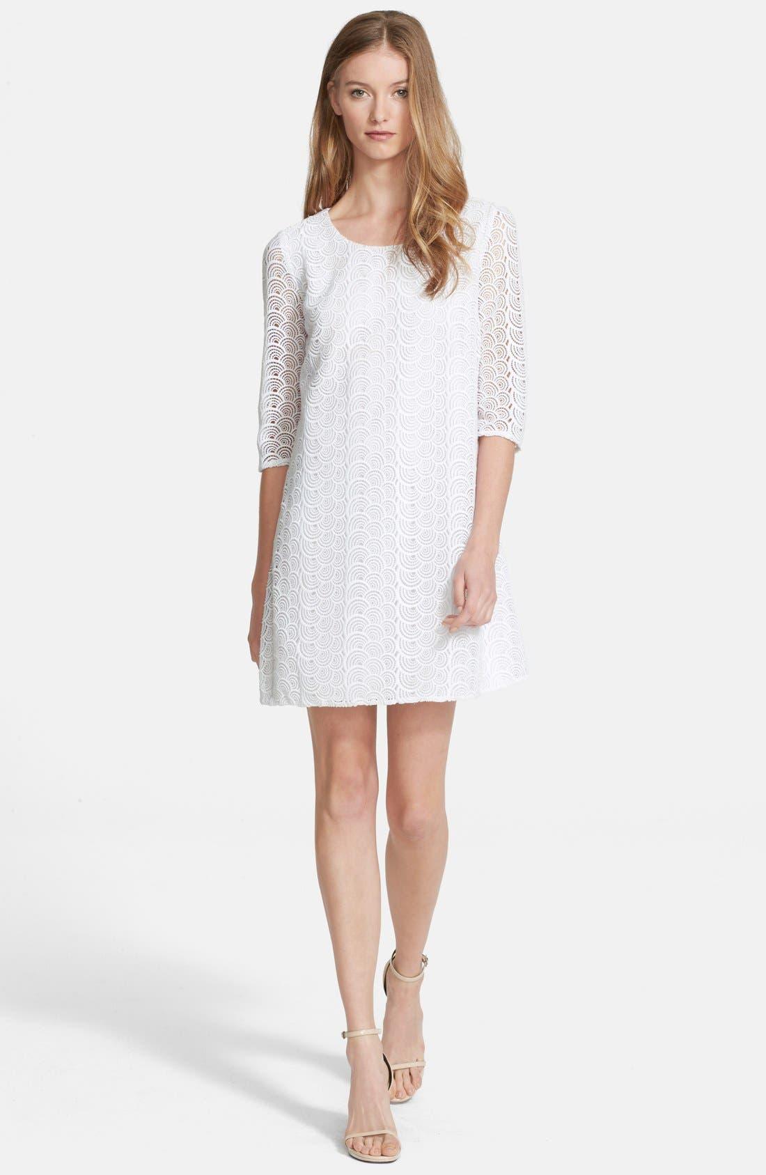 Alternate Image 1 Selected - Diane von Furstenberg 'Martina' Lace Shift Dress