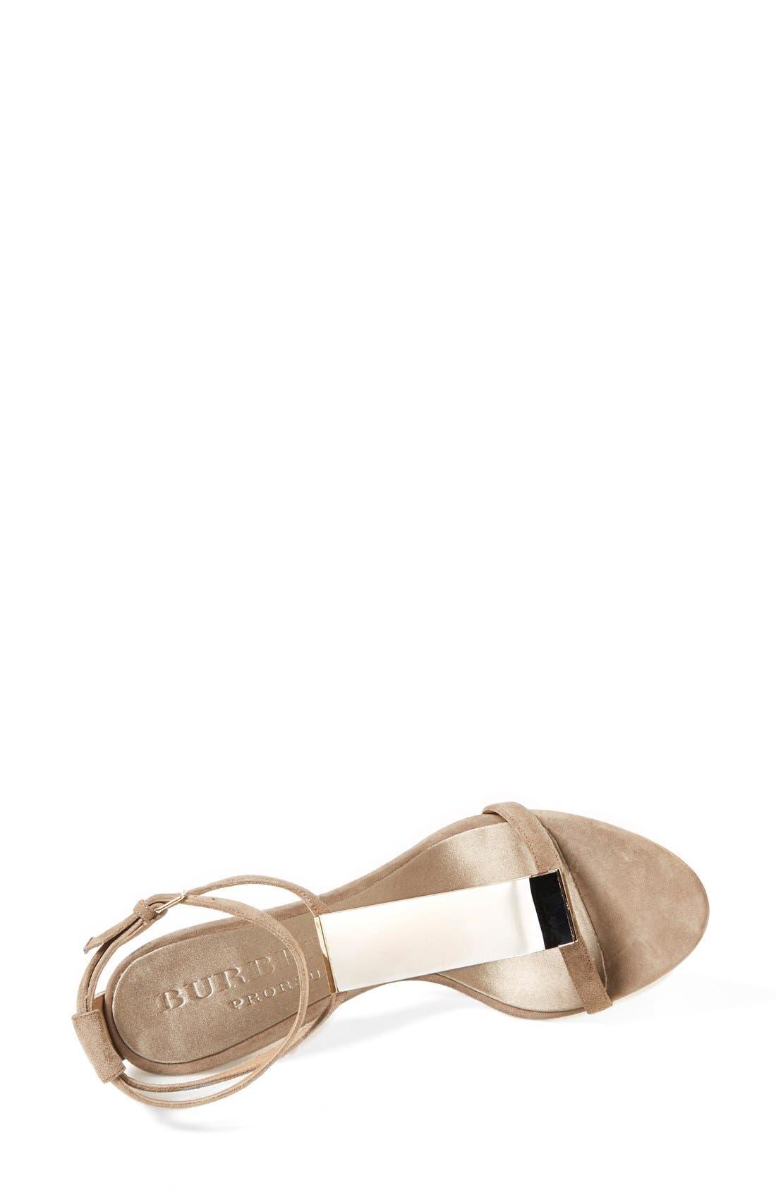 Alternate Image 3  - Burberry 'Irving' Perspex® T-Bar Sandal (Women)