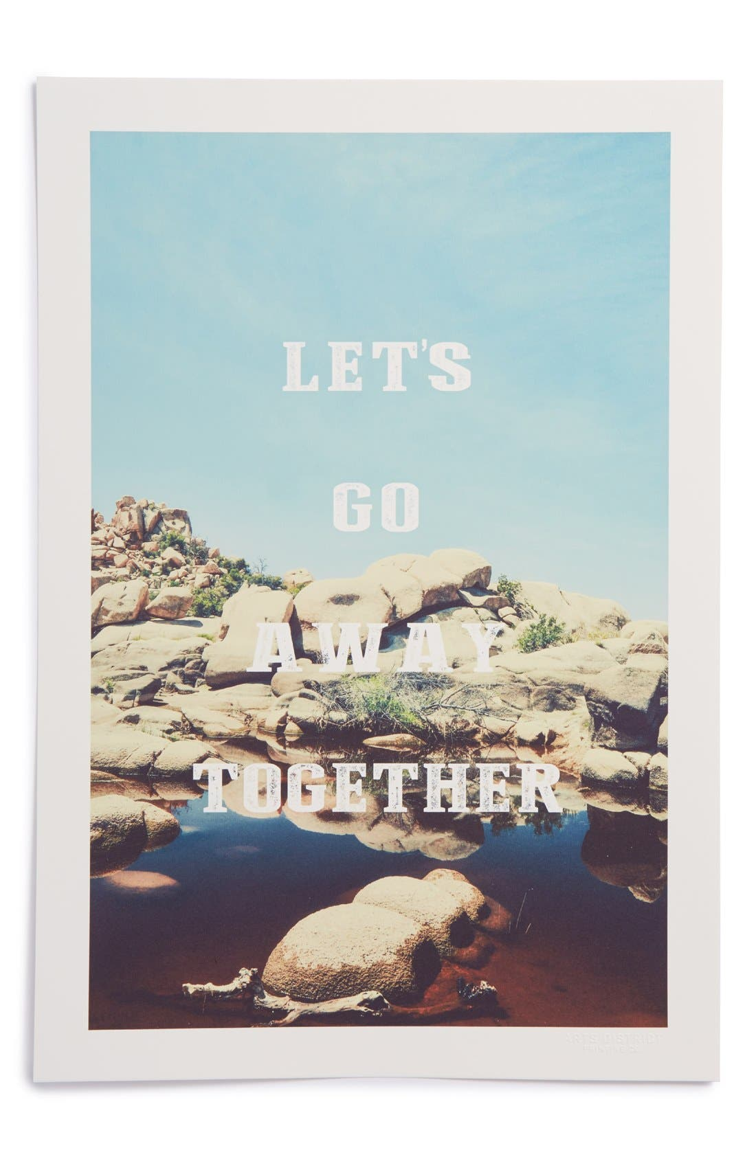 Alternate Image 1 Selected - Arts District Printing Co. 'Let's Go Away Together' Print