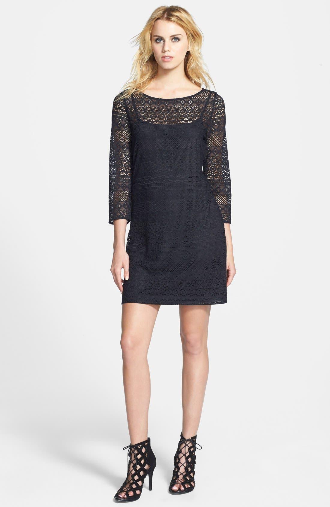 Alternate Image 1 Selected - Tildon Lace Shift Dress
