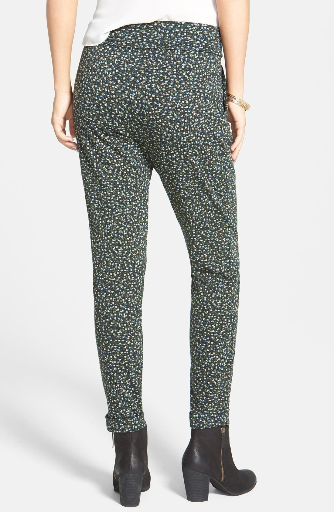 Alternate Image 2  - Lily White Pleat Knit Slouchy Pants (Juniors)