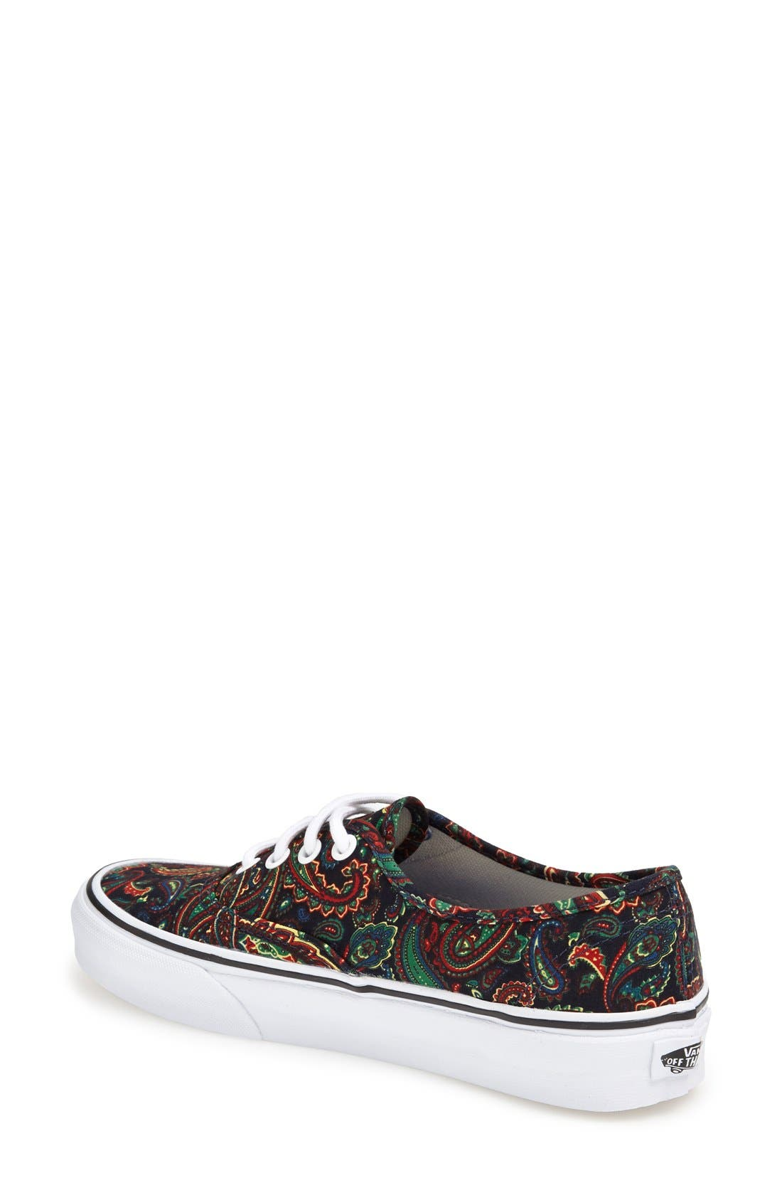 Alternate Image 2  - Vans Authentic Paisley Print Sneaker (Women)