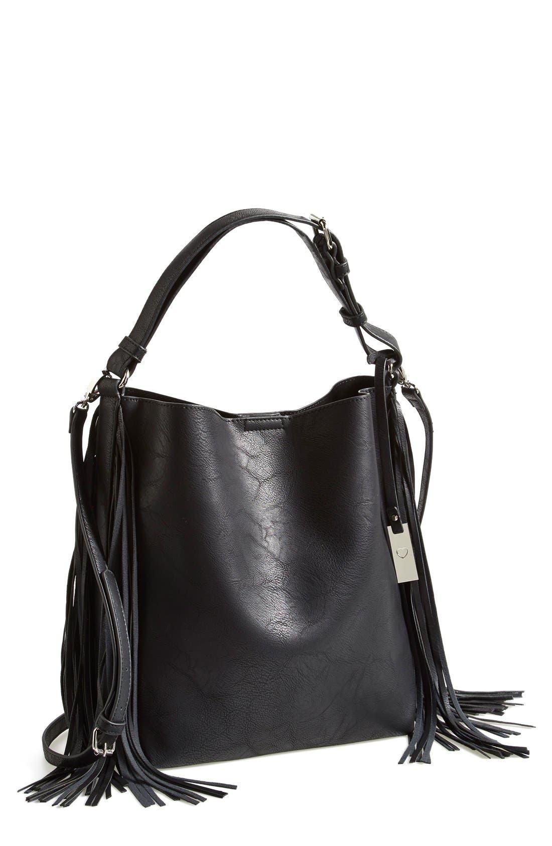 Alternate Image 1 Selected - Urban Originals 'Avoca' Fringe Shoulder Bag