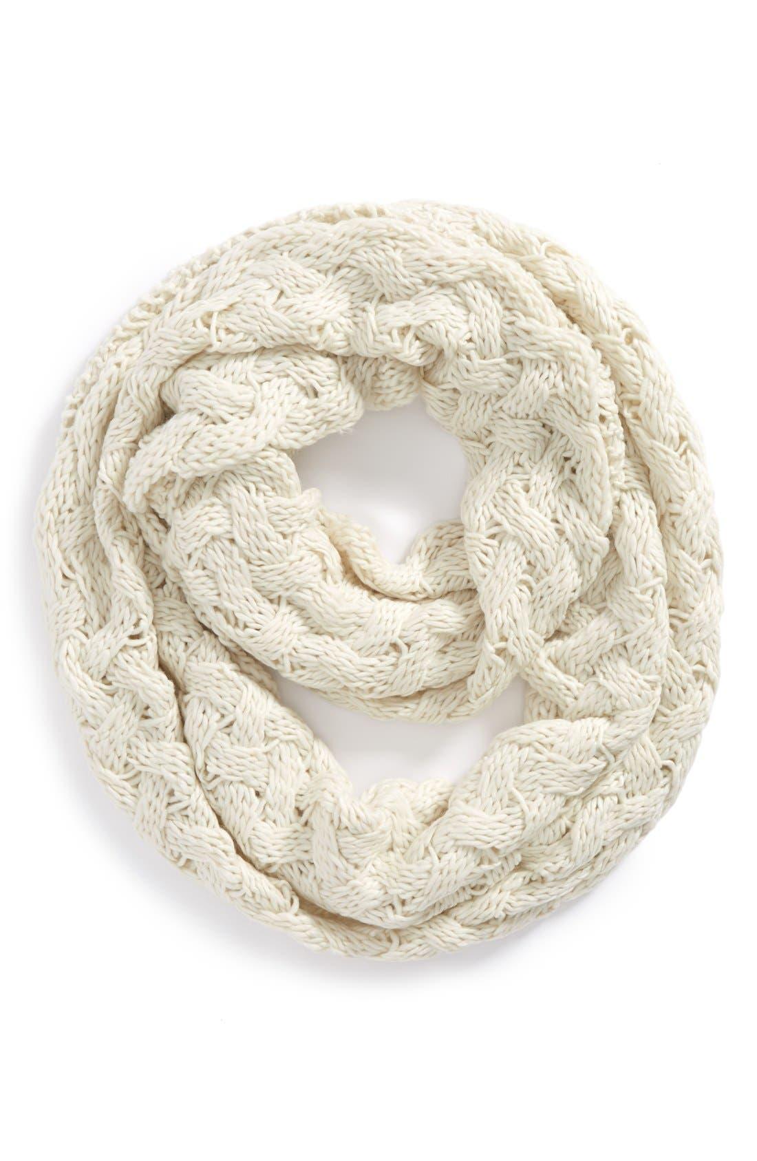 Main Image - Tildon Crisscross Knit Infinity Scarf