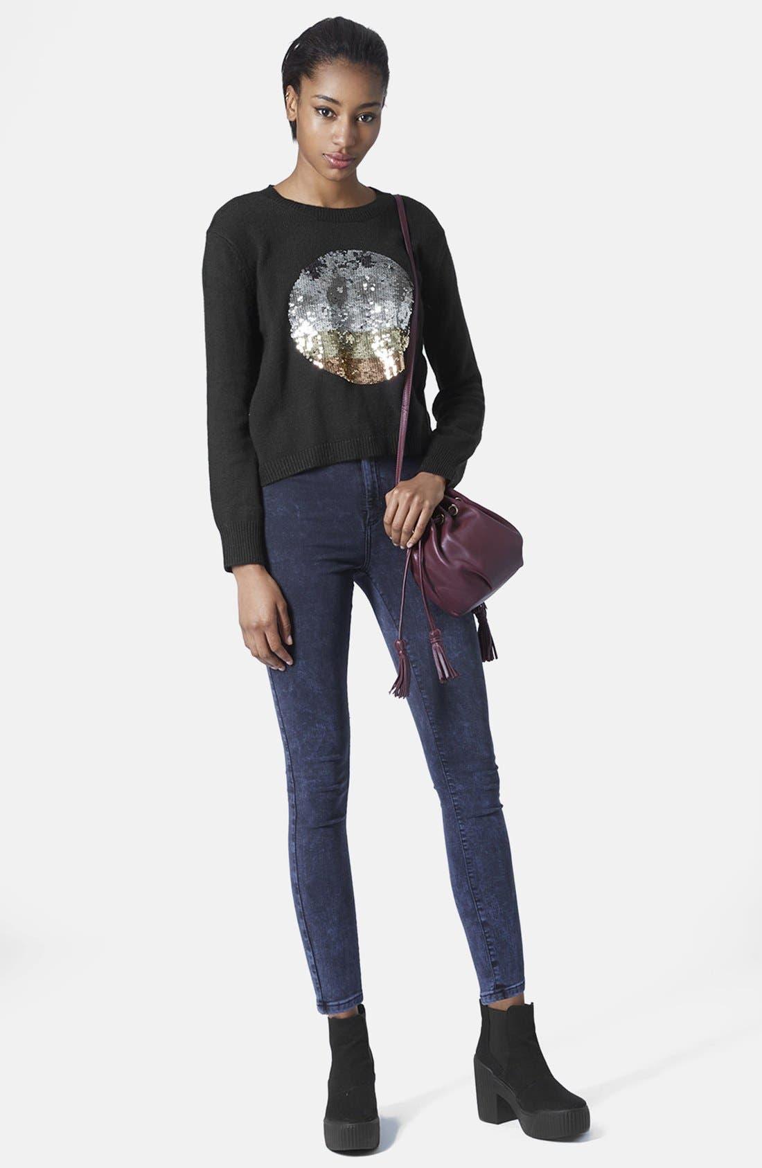 Alternate Image 5  - Topshop Sequin Spot Sweater