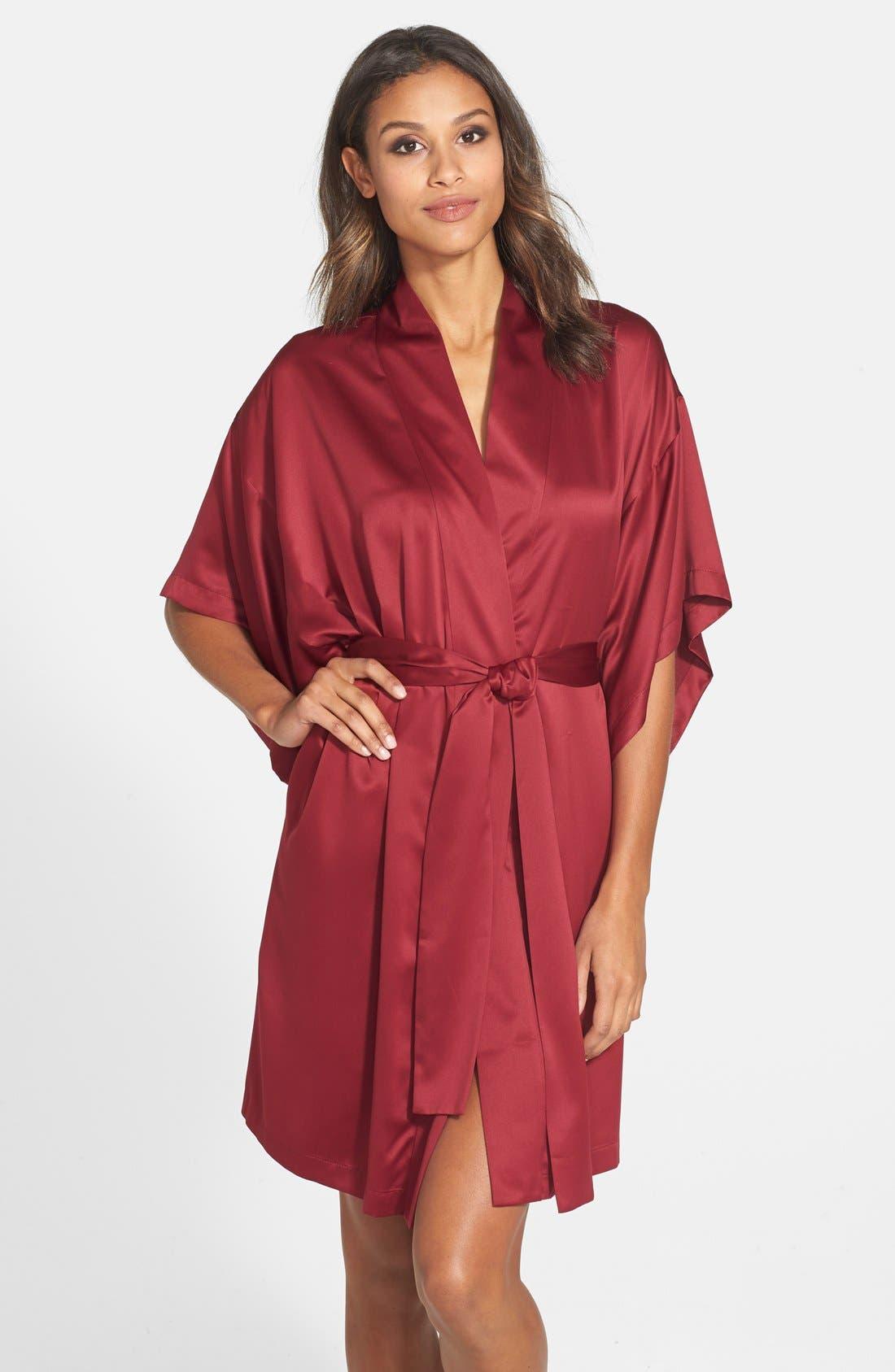 Alternate Image 1 Selected - Natori Charmeuse Kimono Robe