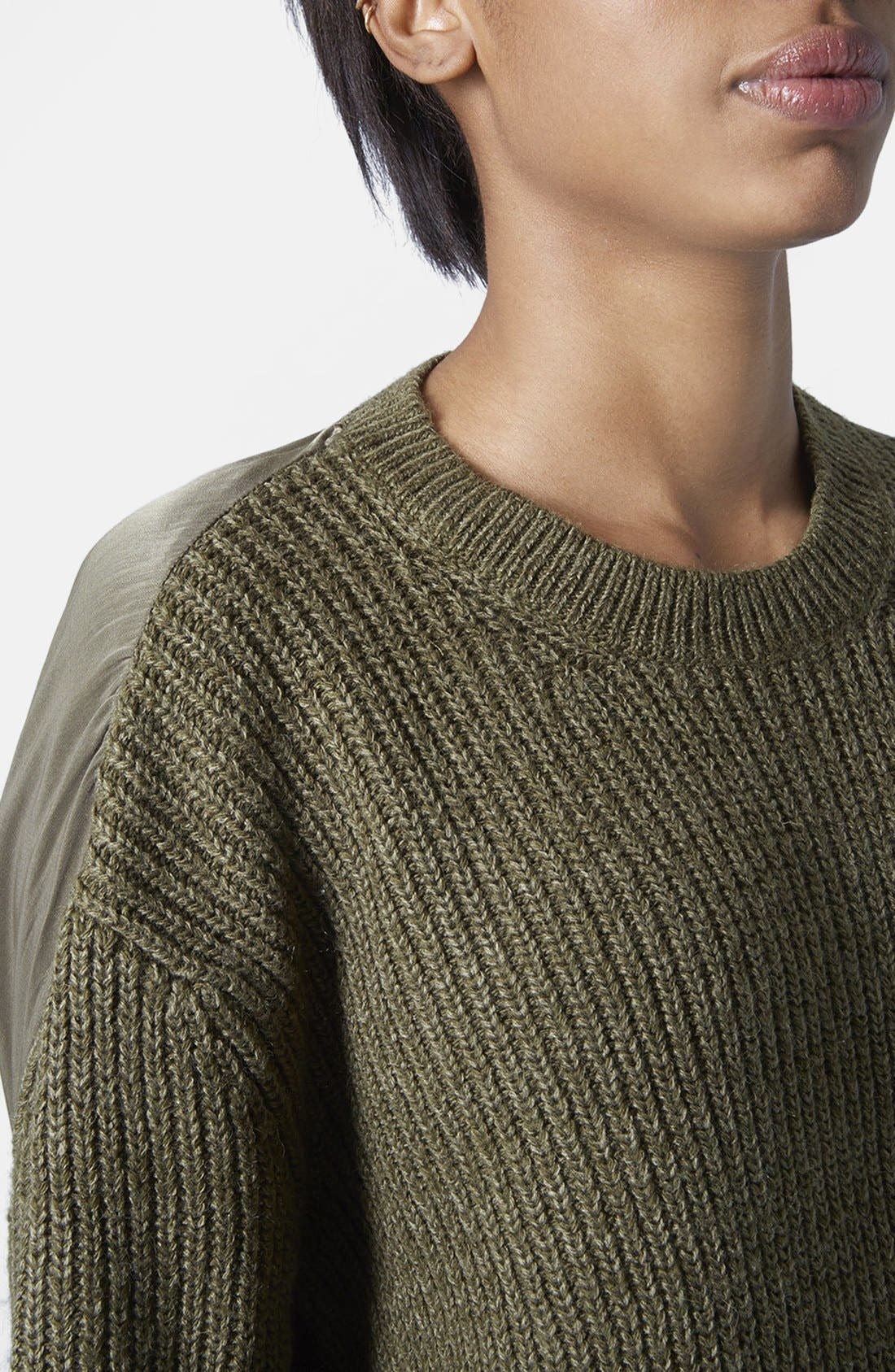 Alternate Image 2  - Topshop Hybrid Rib Sweater