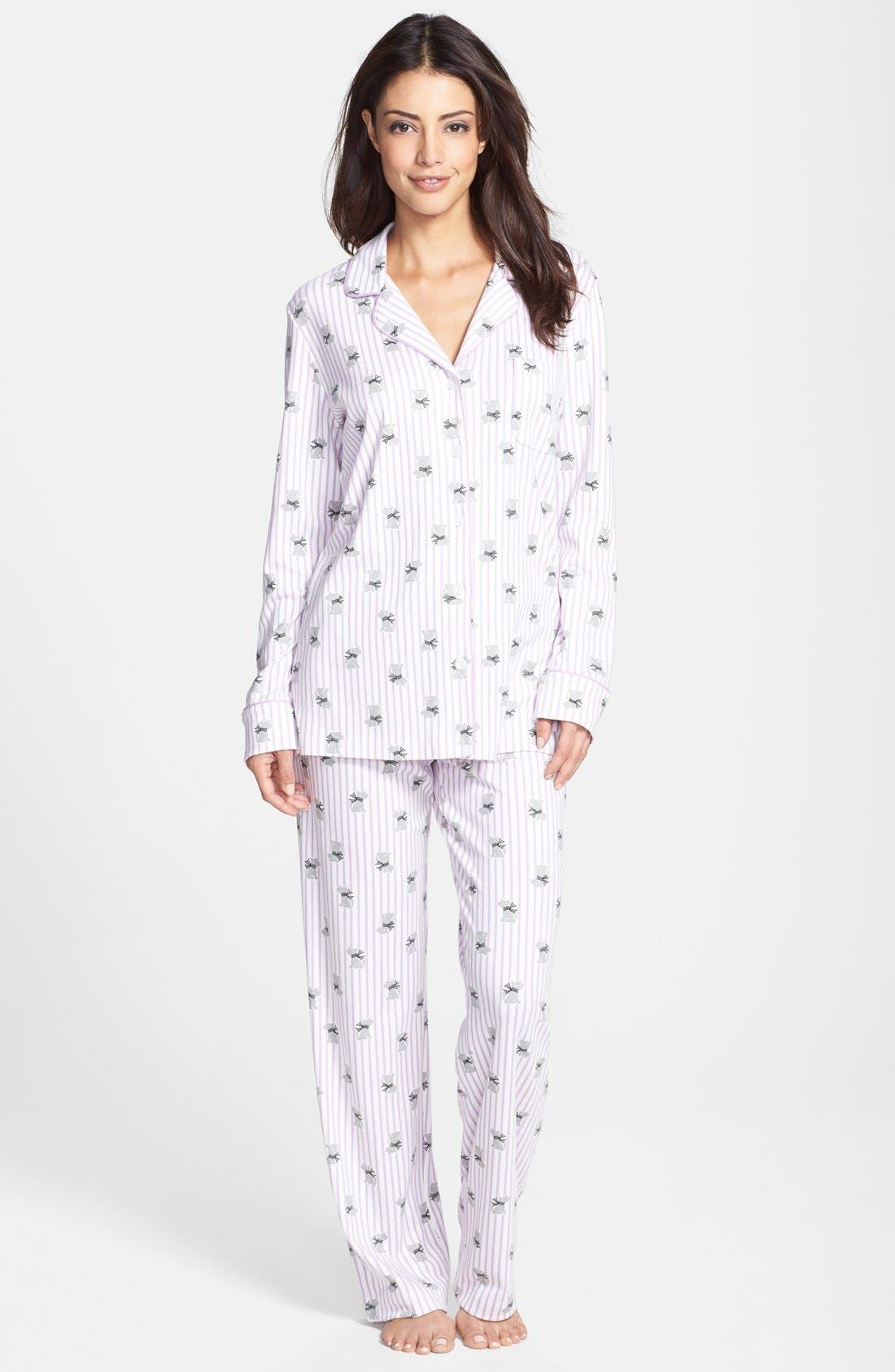 Alternate Image 1 Selected - Carole Hochman Designs 'Tossed Carnations' Pajamas