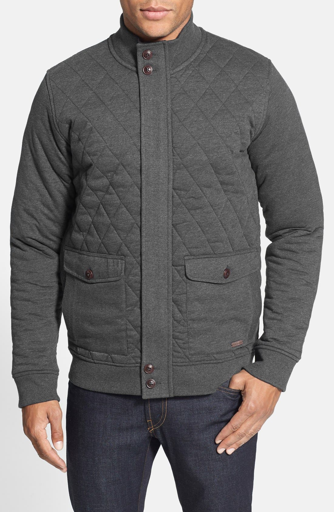 Main Image - Ted Baker London 'QUILTIN' Quilted Full Zip Jacket